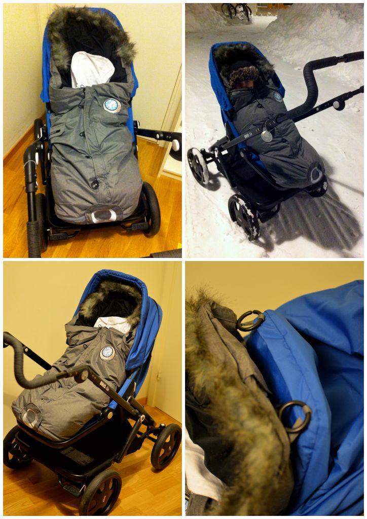 Fästa Easygrow åkpåse i barnvagnen