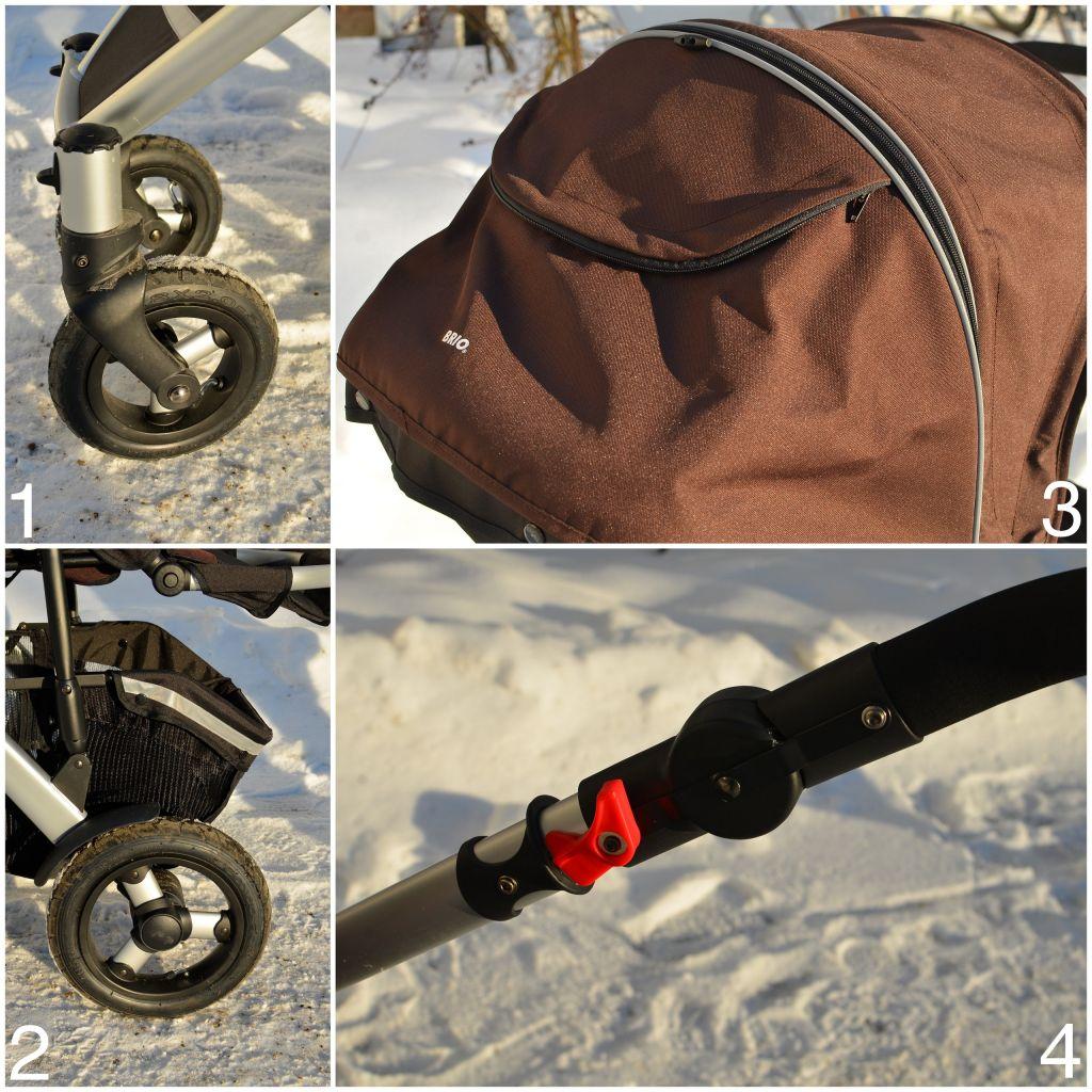 Brio Smile har bra lufthjul och reflexer på suffletten