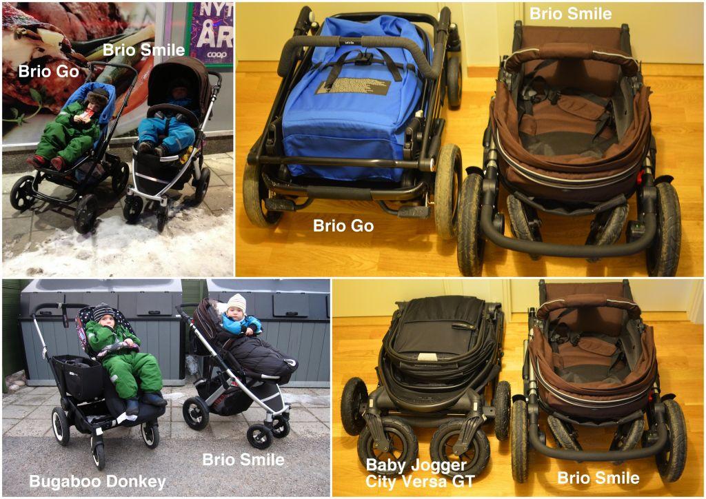 Brio Smile jämfört med Brio Go och Baby Jogger City Versa GT