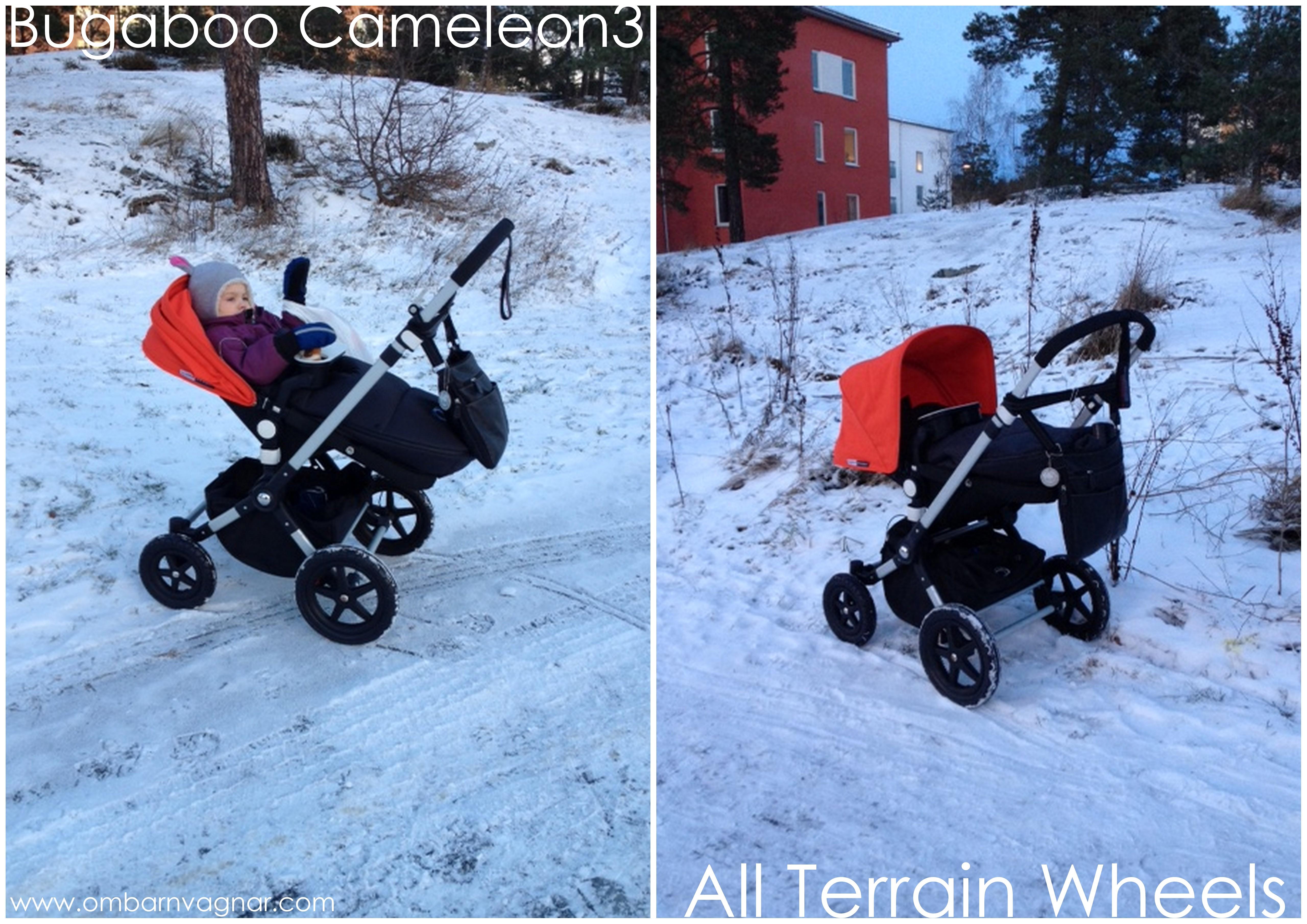Bugaboo Cameleon3 med terränghjul vinterhjul
