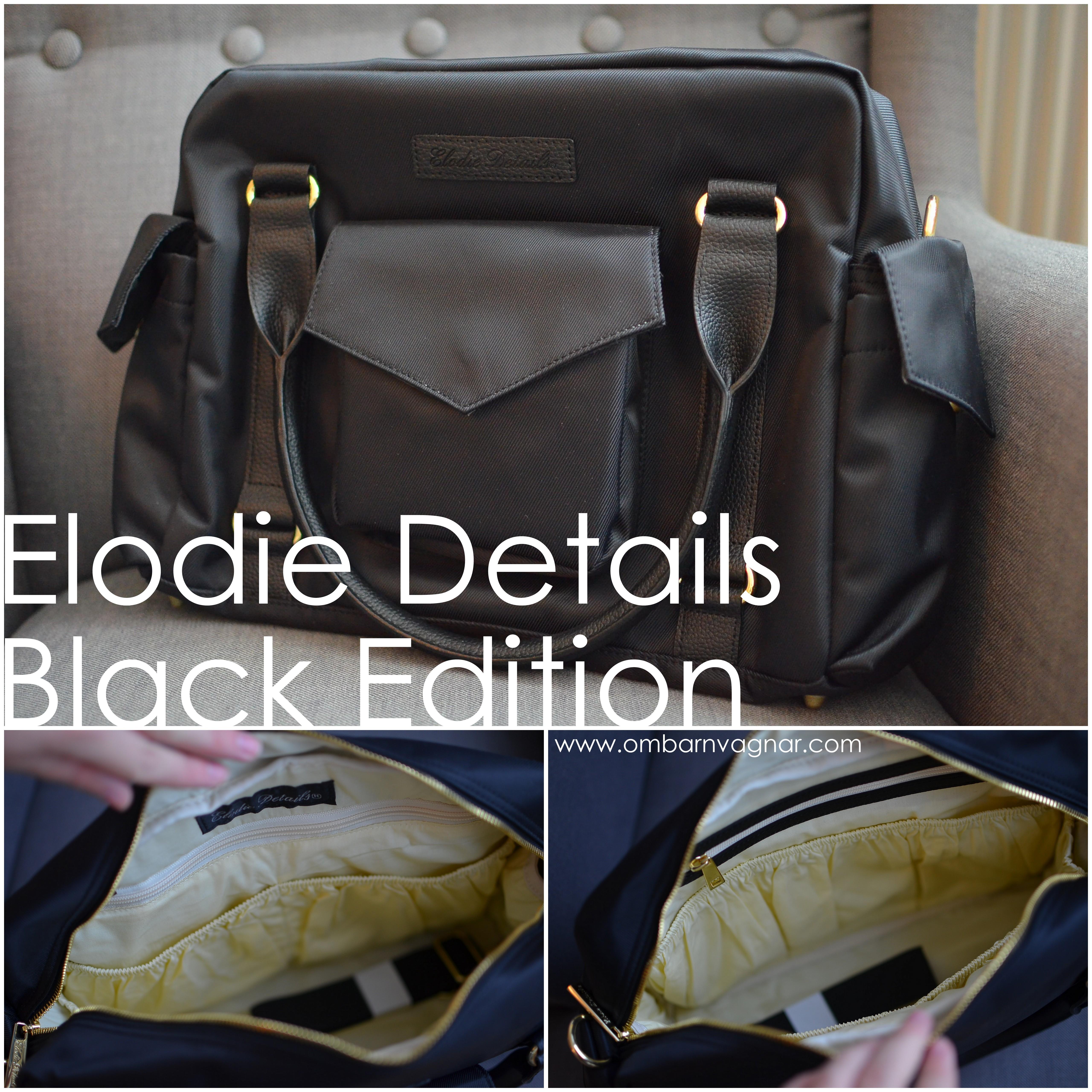 Elodie Details Black Edition skötväska med många fack