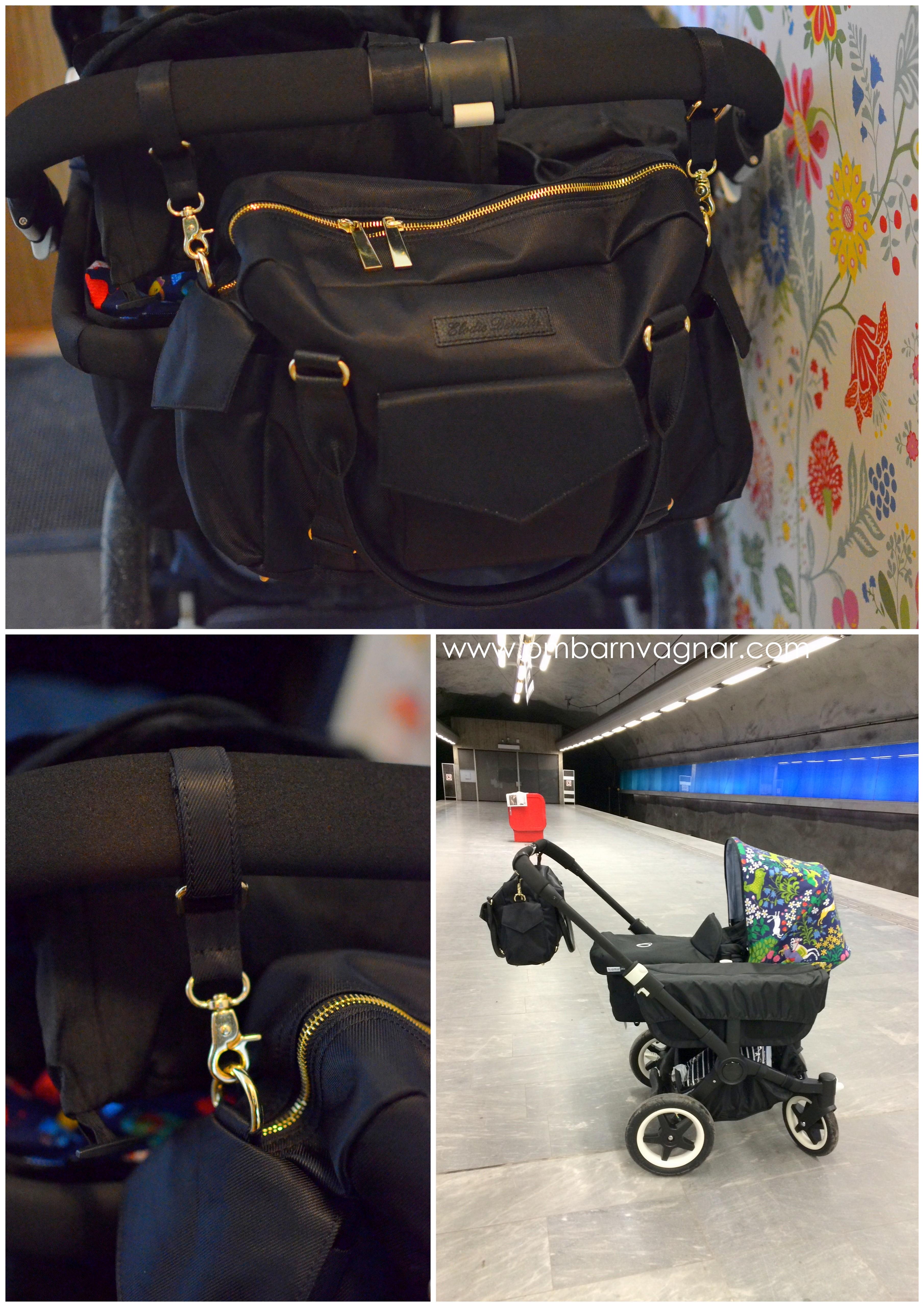 Elodie Details Black Edition smart upphängning på vagnen med separata krokar