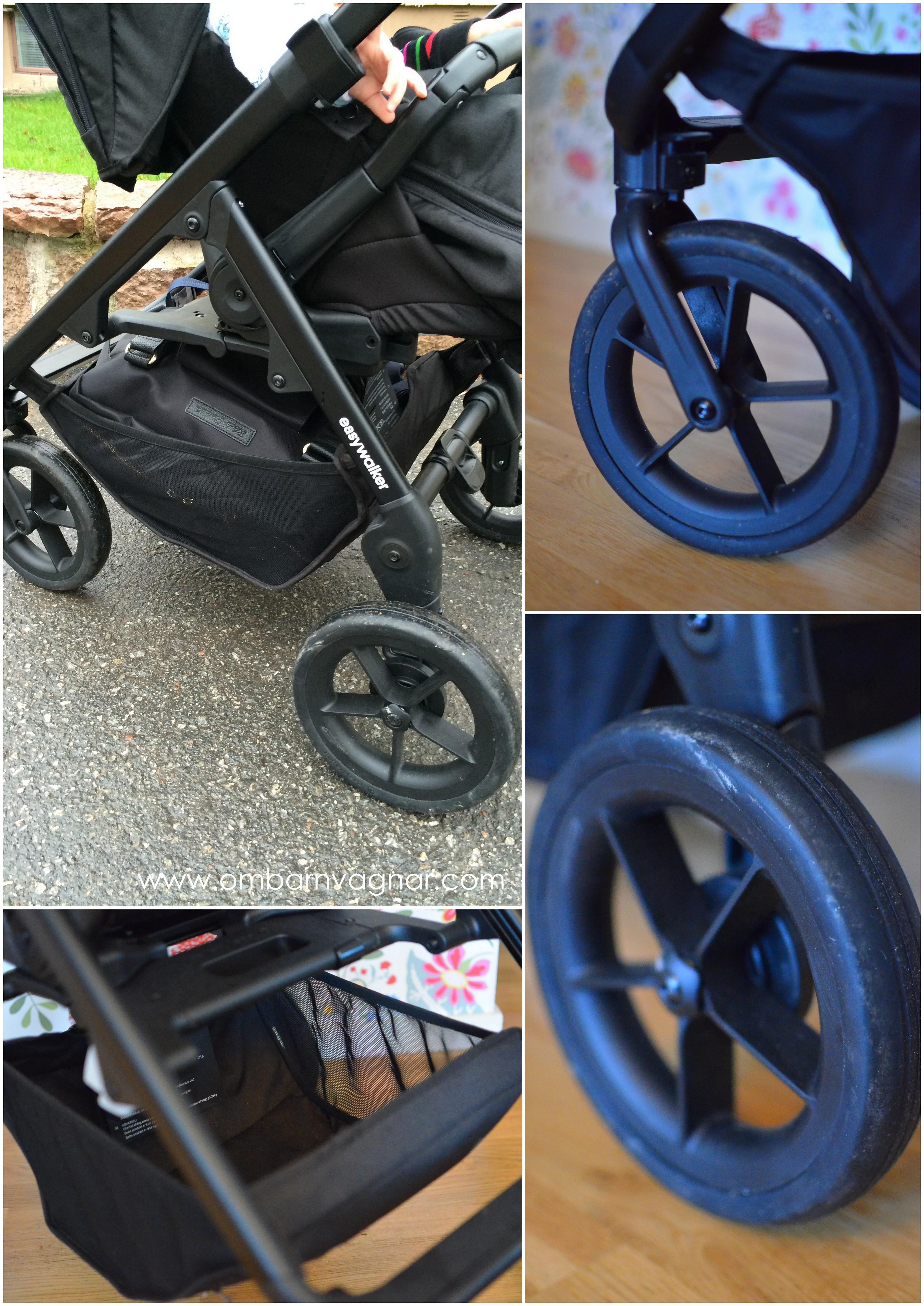 Stora och tåliga hjul på Easywalker Mosey