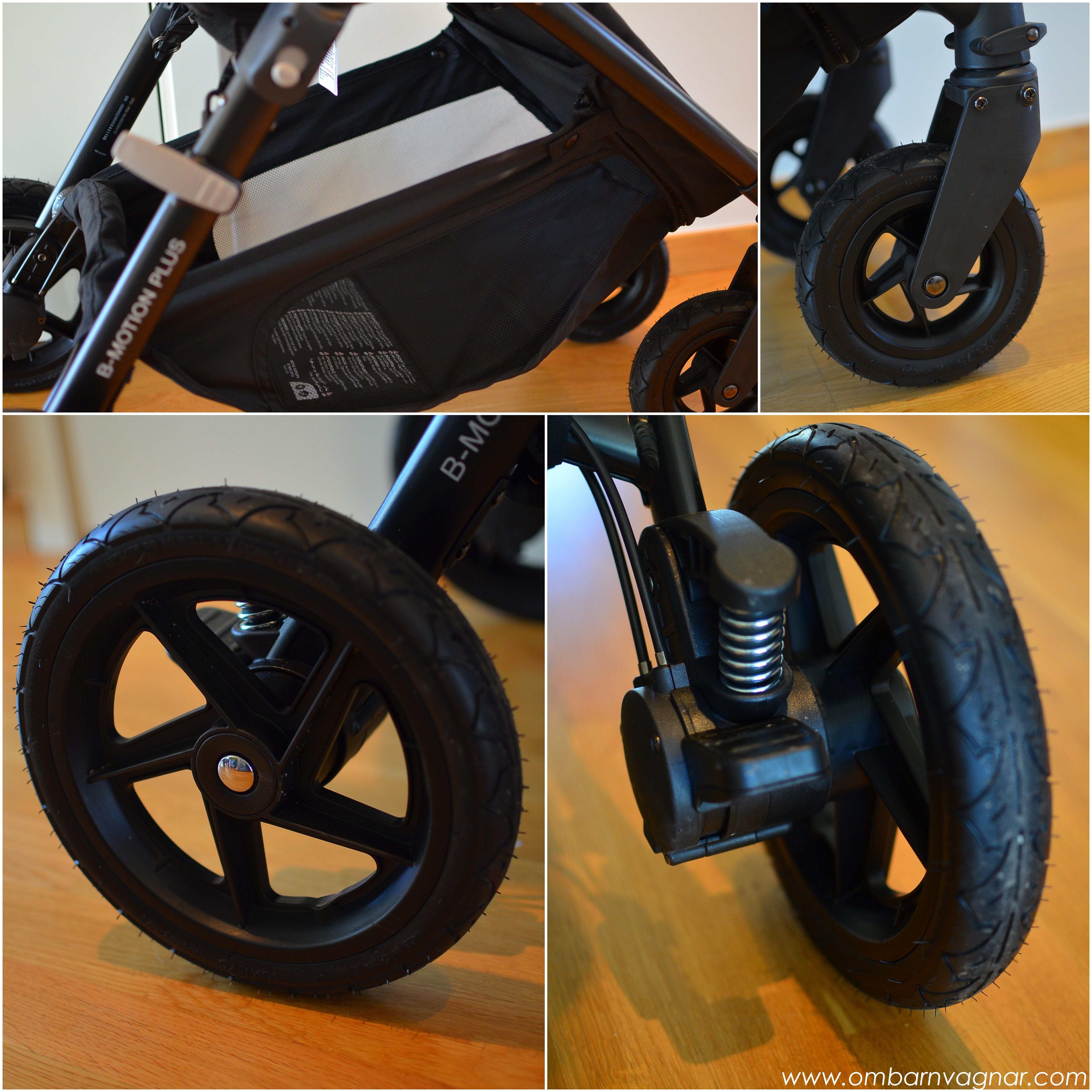 Britax B-Motion 4 Plus har stora hjul, fjädring och rymlig varukorg