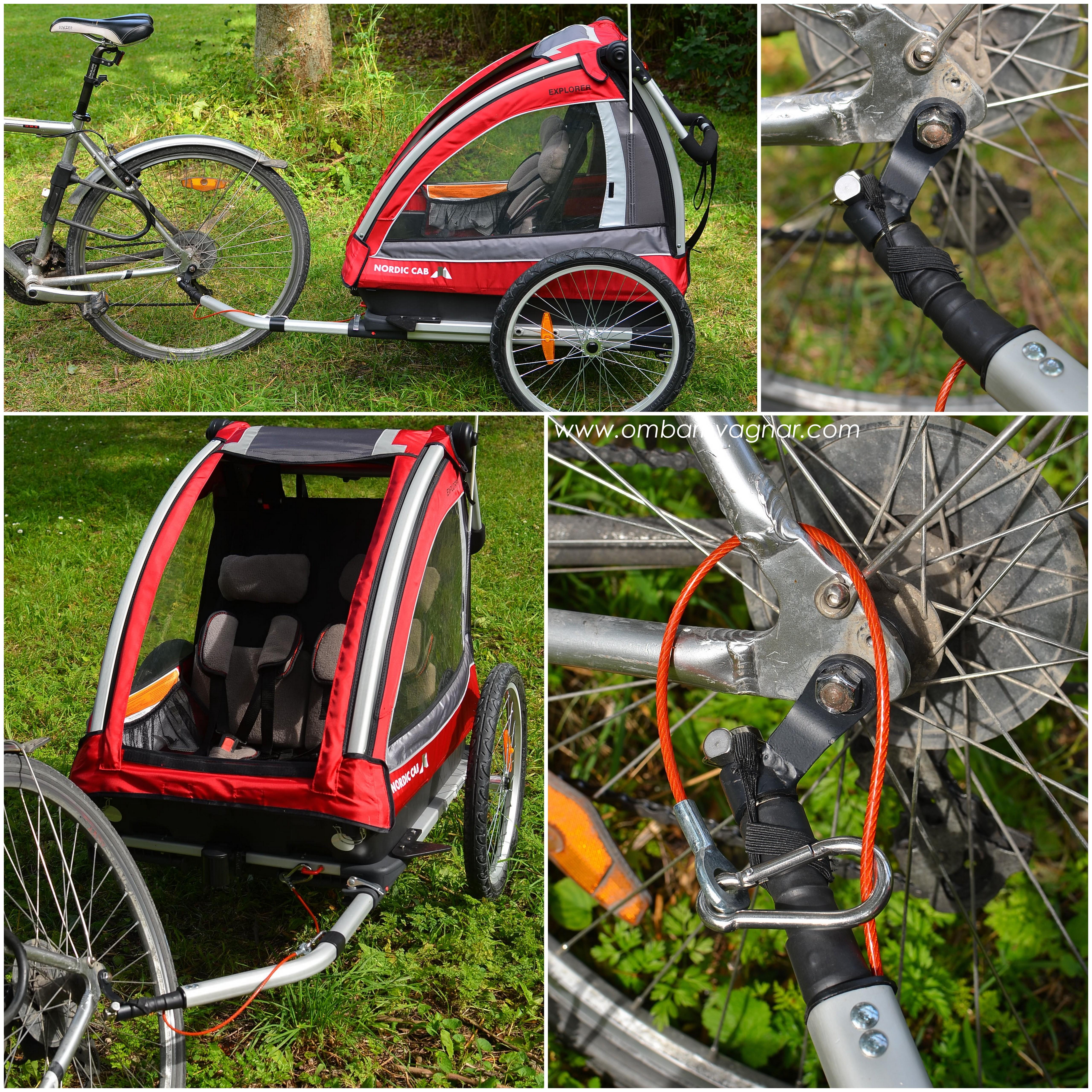 Så kopplar man Nordic Cab Explorer till cykeln