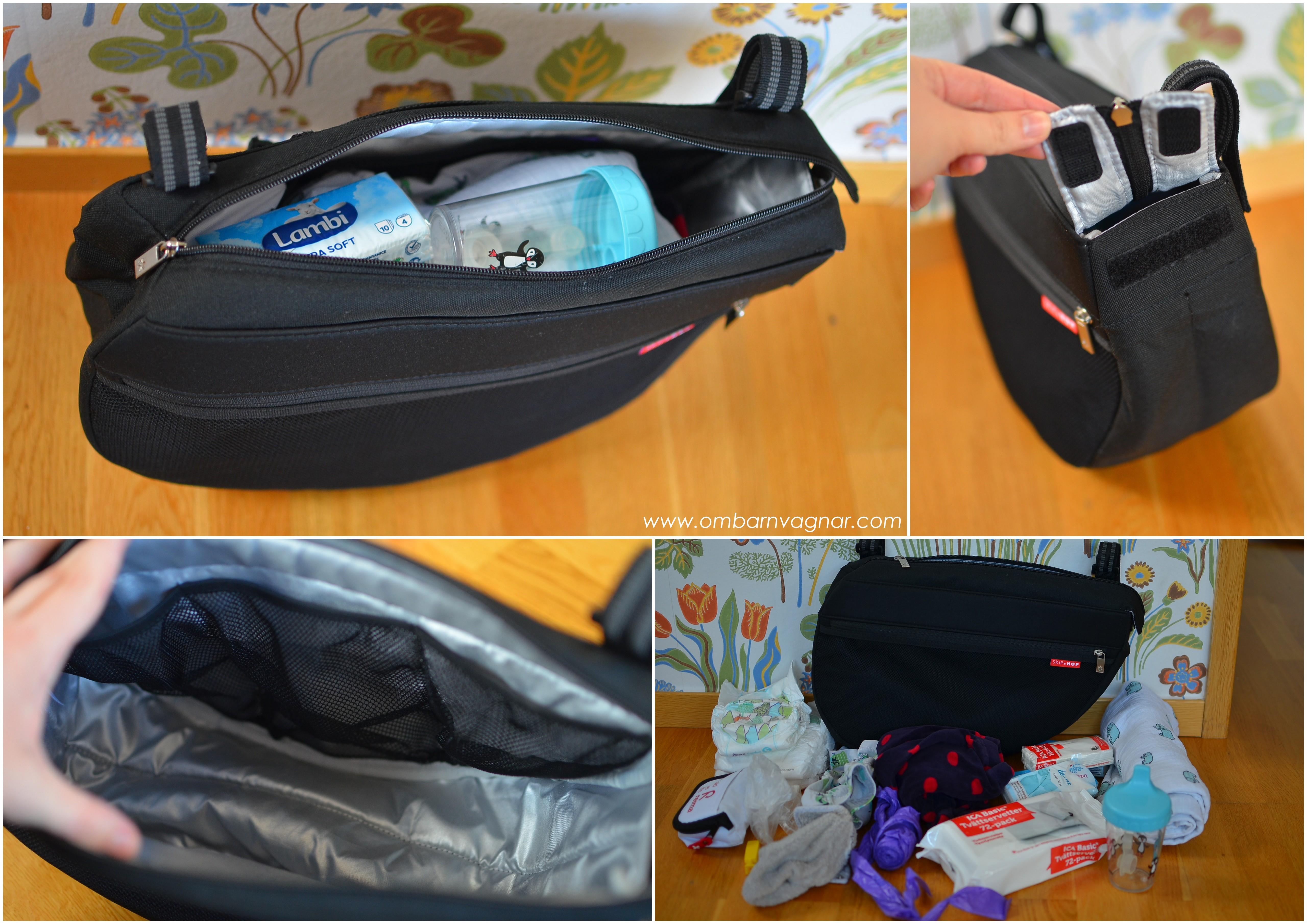 Skip Hop Stroller Saddle Bag insida med smarta förvaringsfack