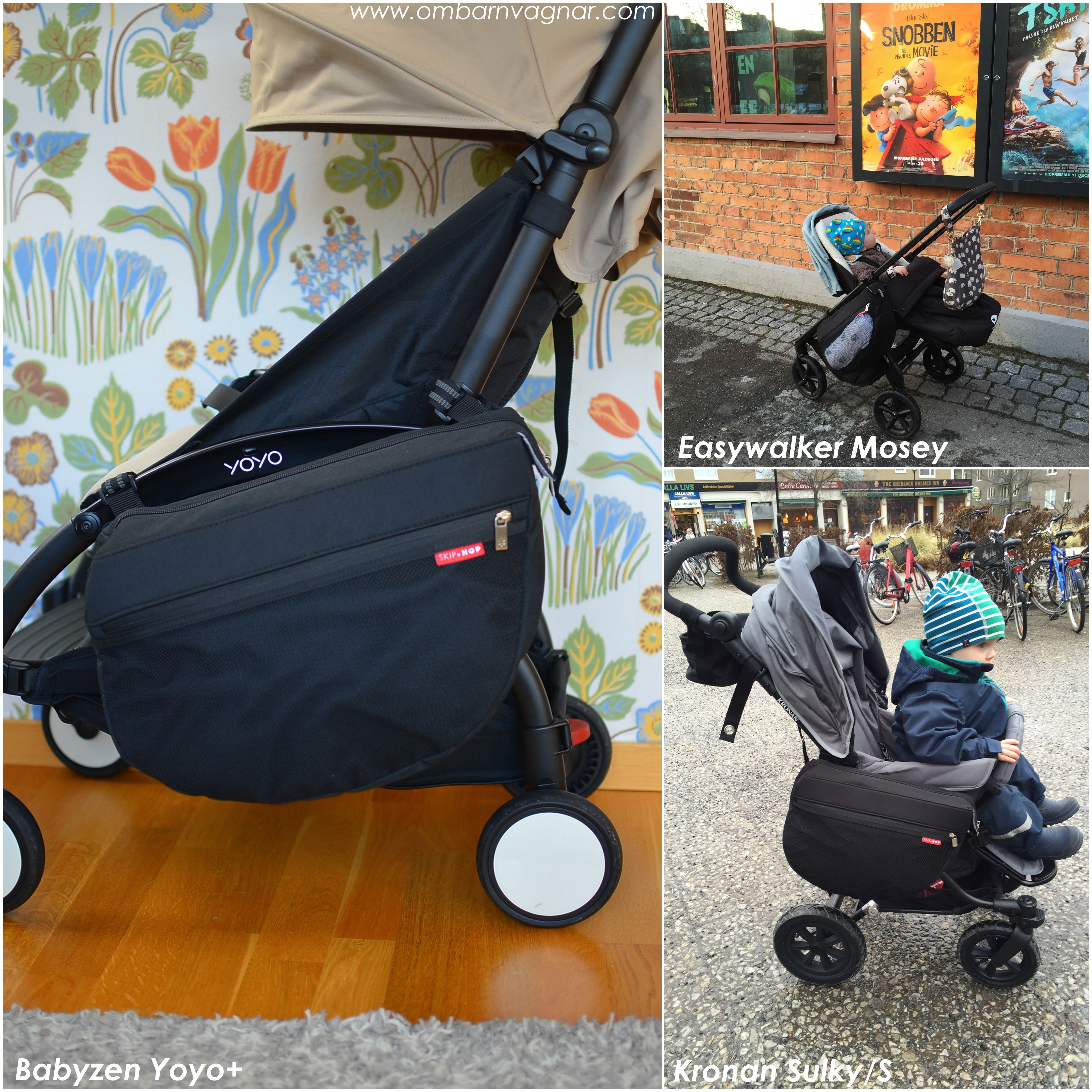 Skip Hop Stroller Saddle Bag funkar på alla vagnar