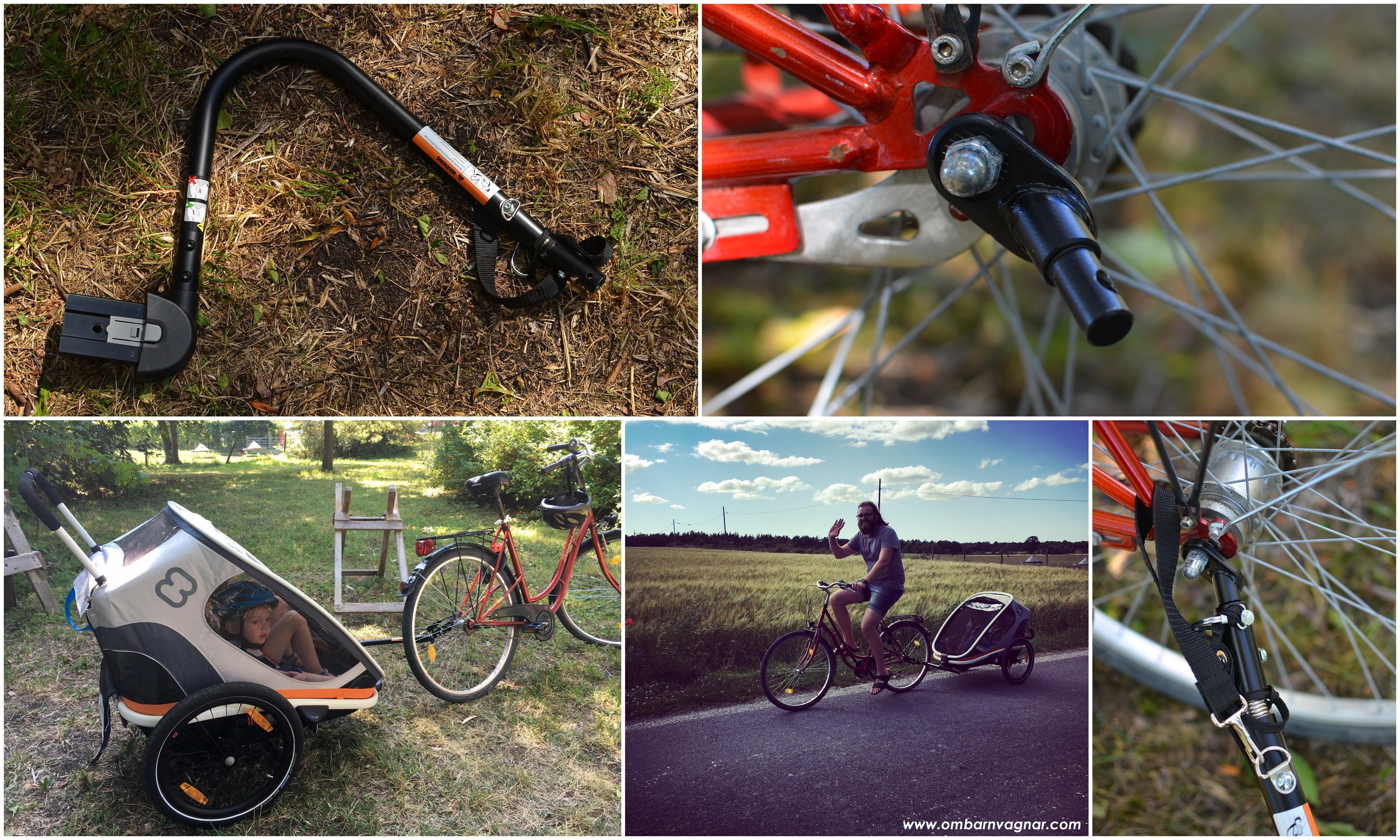 Hamax Outback körkänsla och användning som cykelvagn