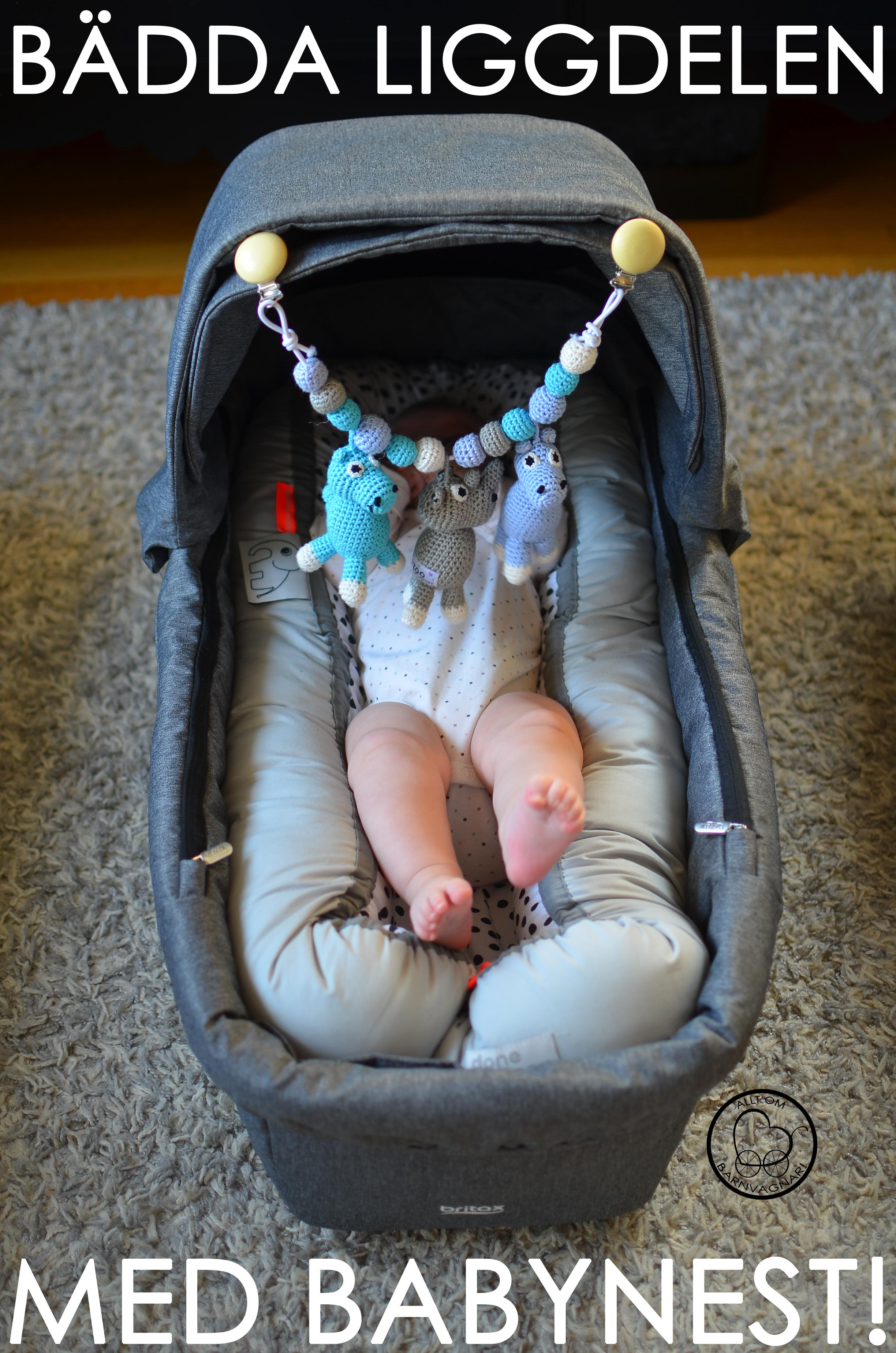 Bädda liggdelen med babynest