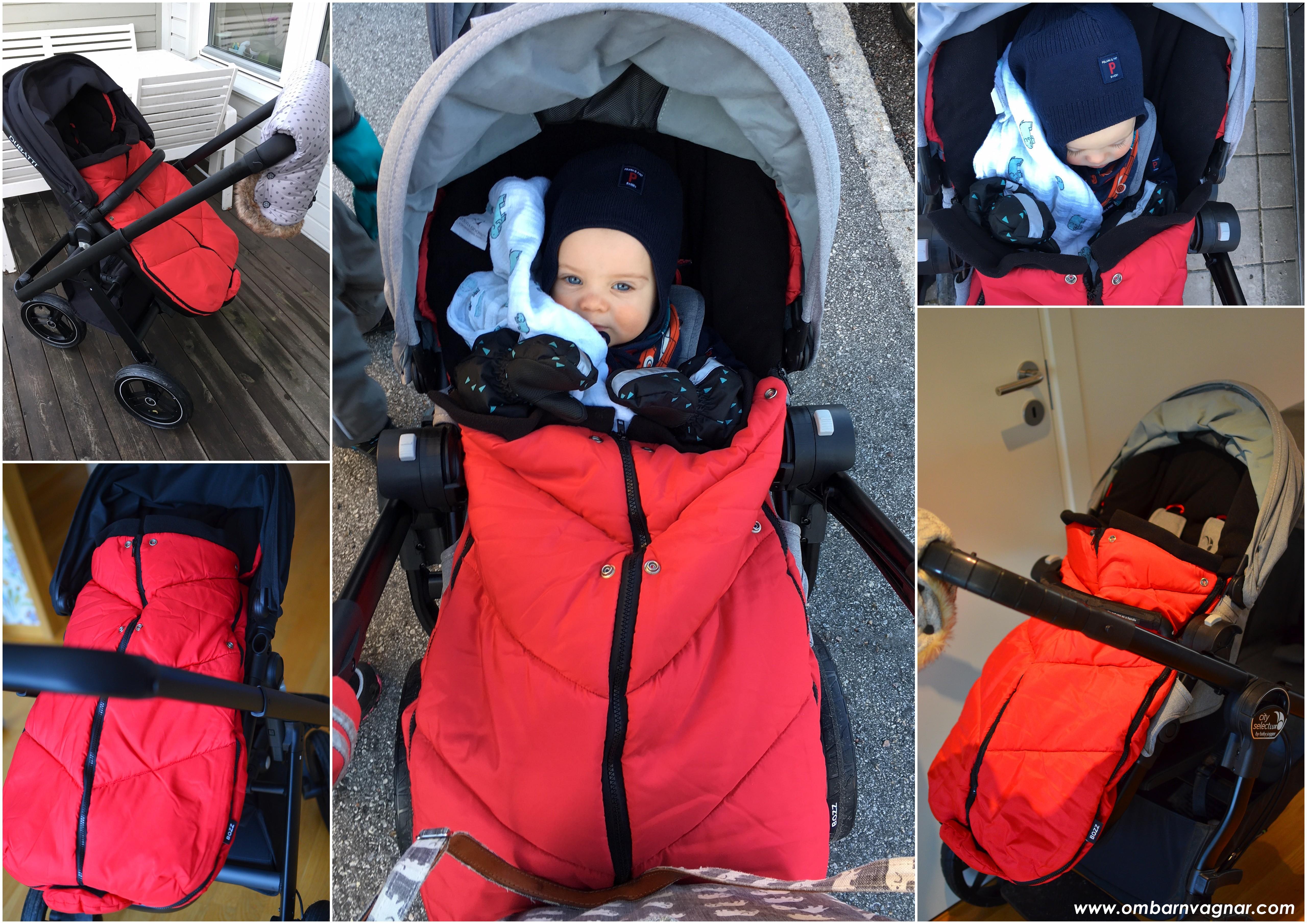 Så sitter BOZZ Ergo i barnvagnen
