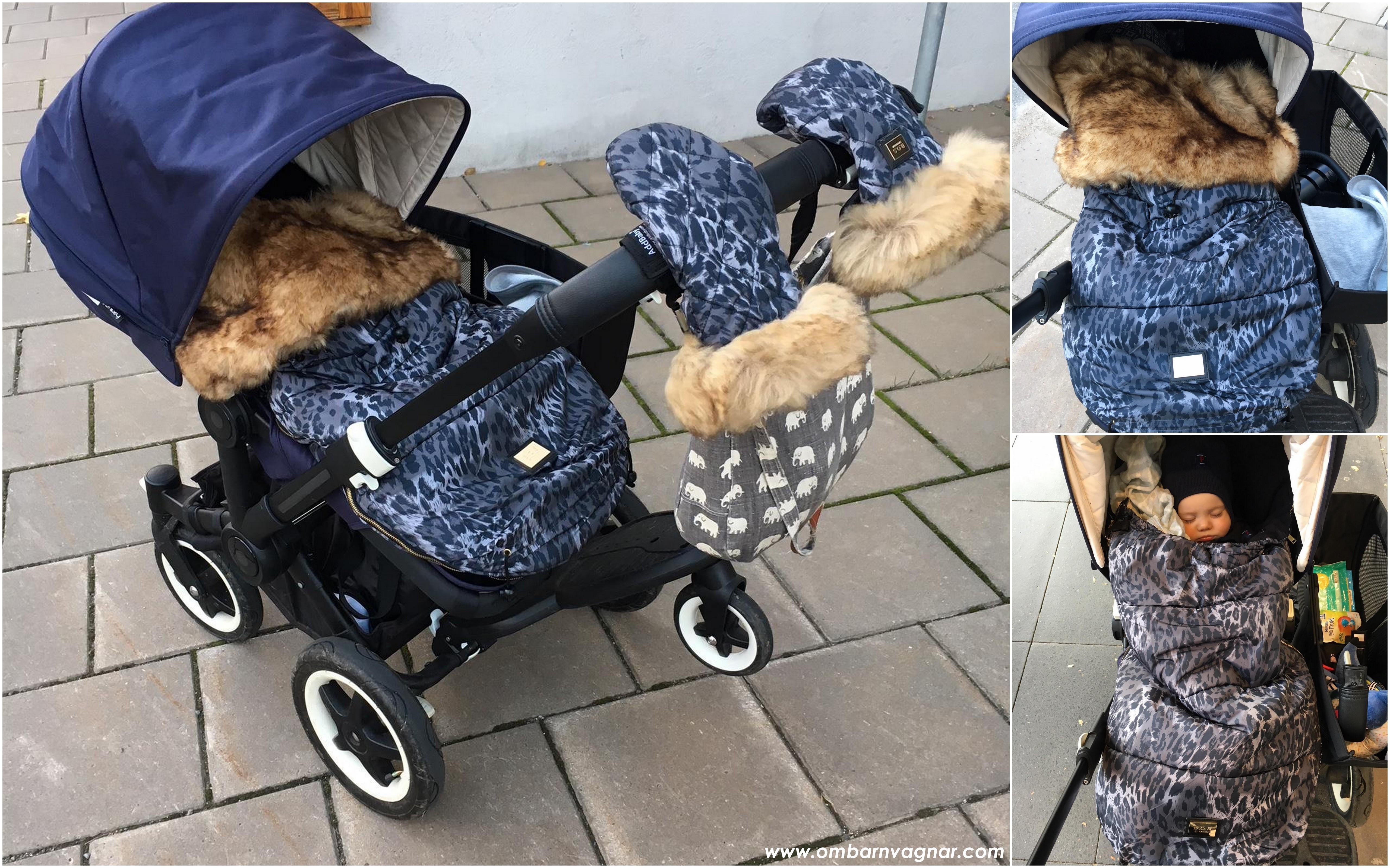 Så sitter Bjällra of Sweden Åkpåse i barnvagnen