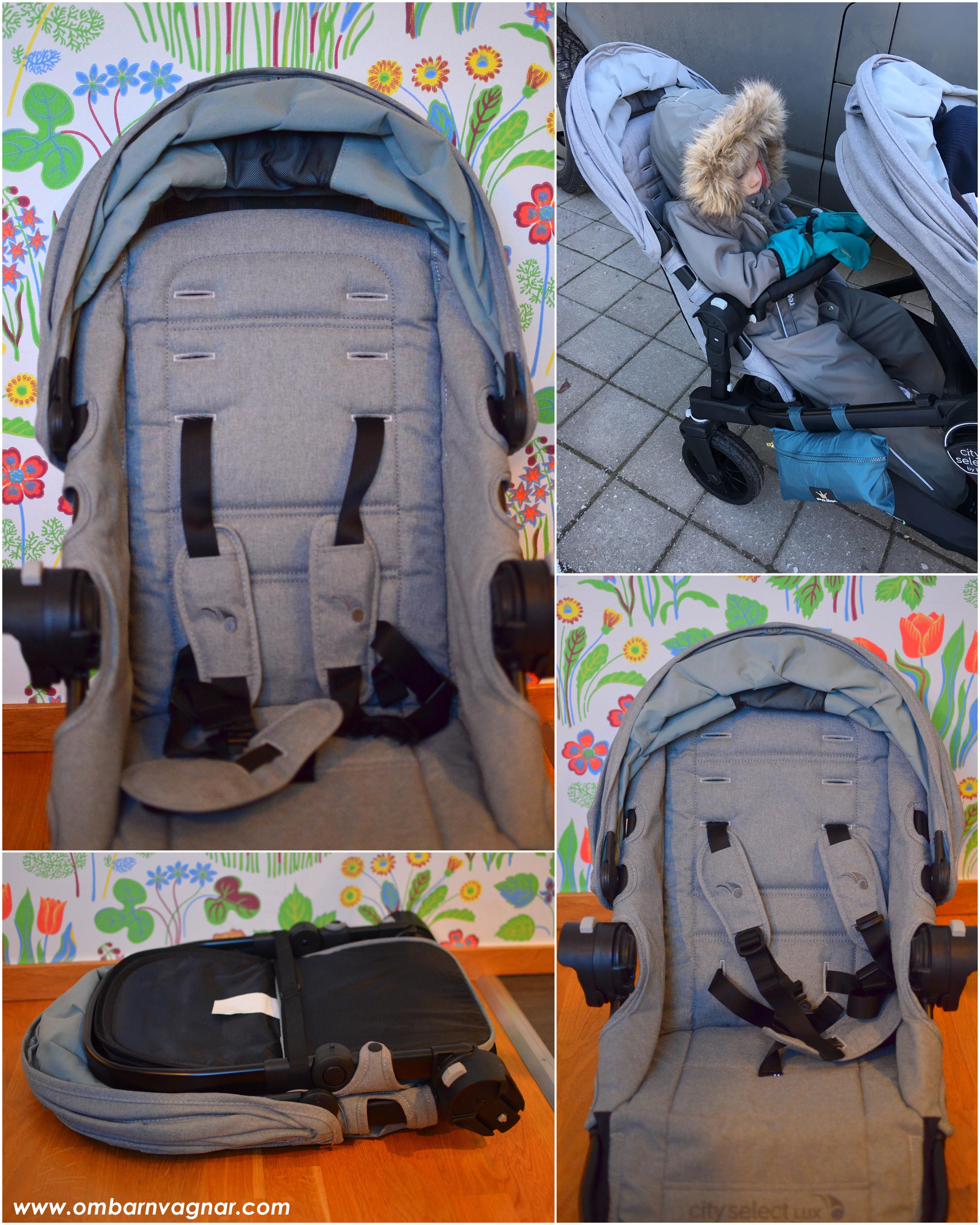 Baby Jogger City Select Lux har en mycket rymlig sittdel med suffletter som kan höjas