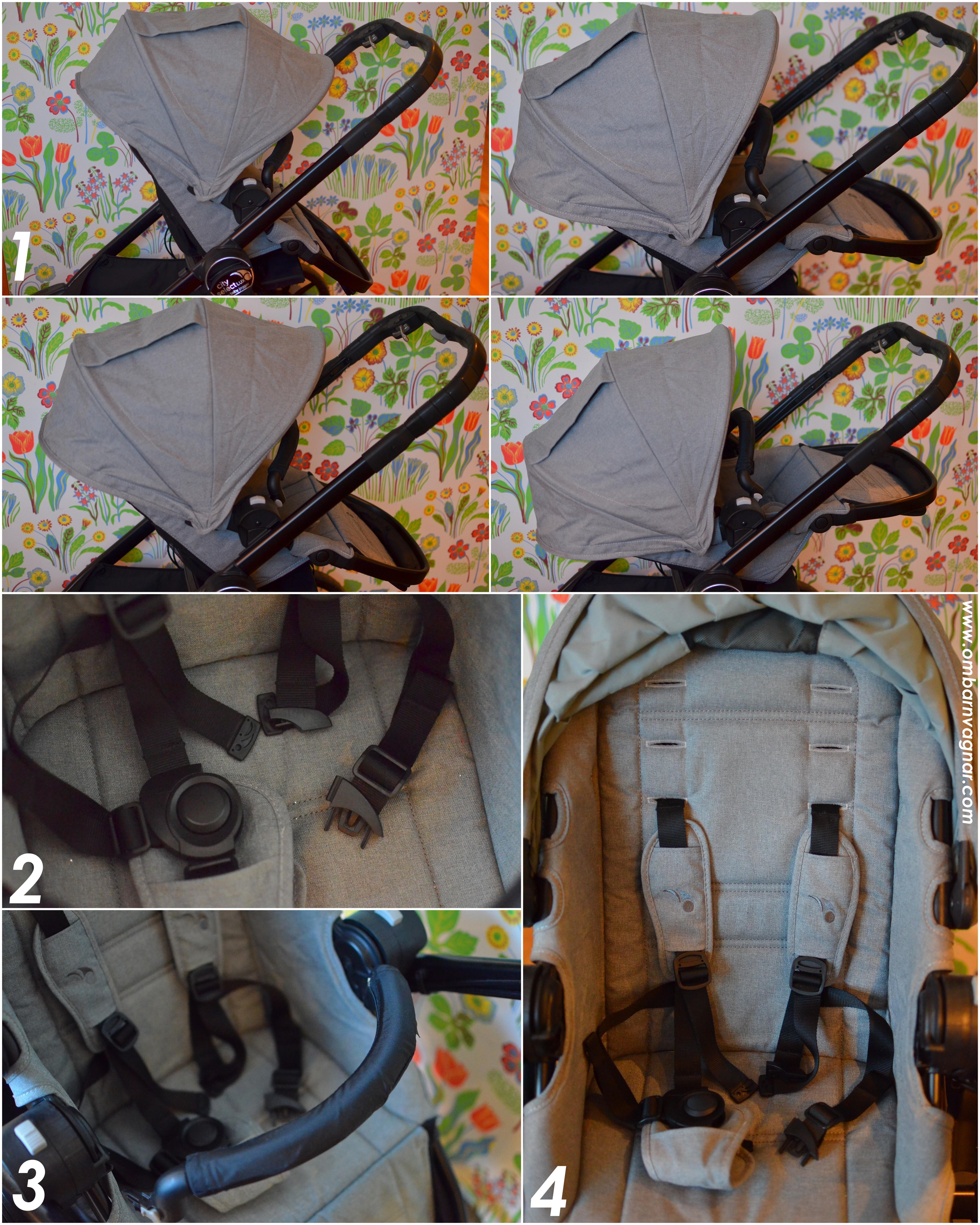 Baby Jogger City Select Lux har en vändbar, ergonomisk sittdel