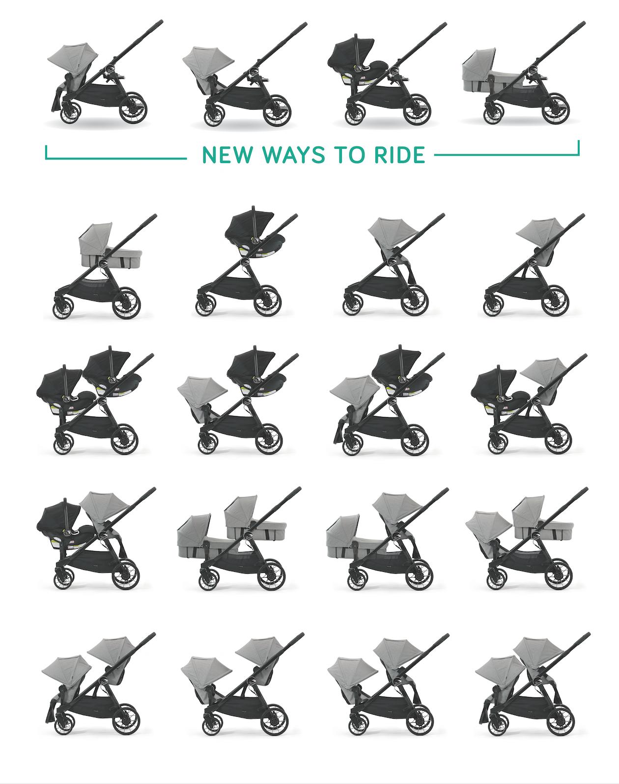 Alla möjliga kombinationer för Baby Jogger City Select Lux