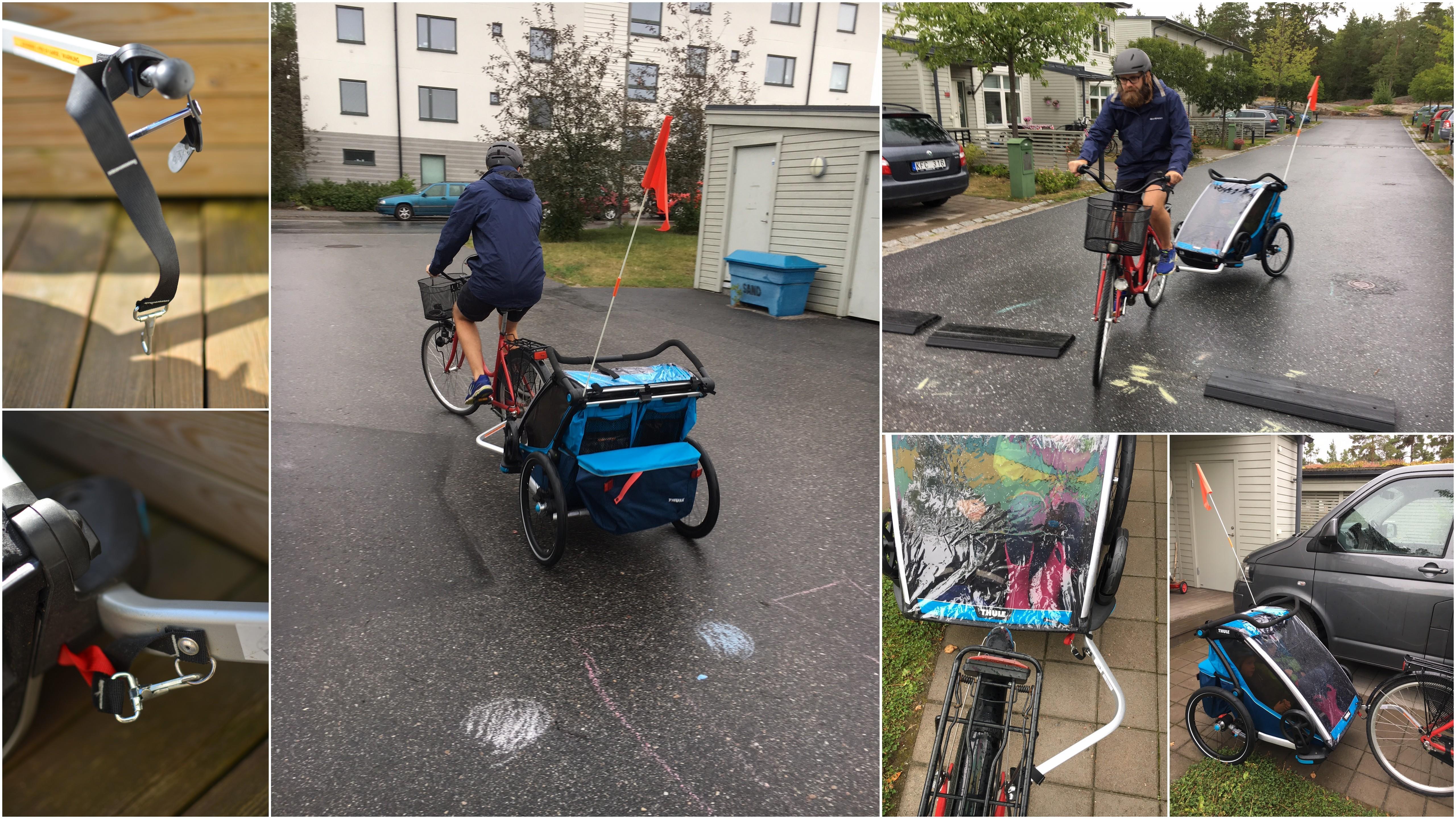 Så kopplar man Thule Chariot Cross 2 till cykeln