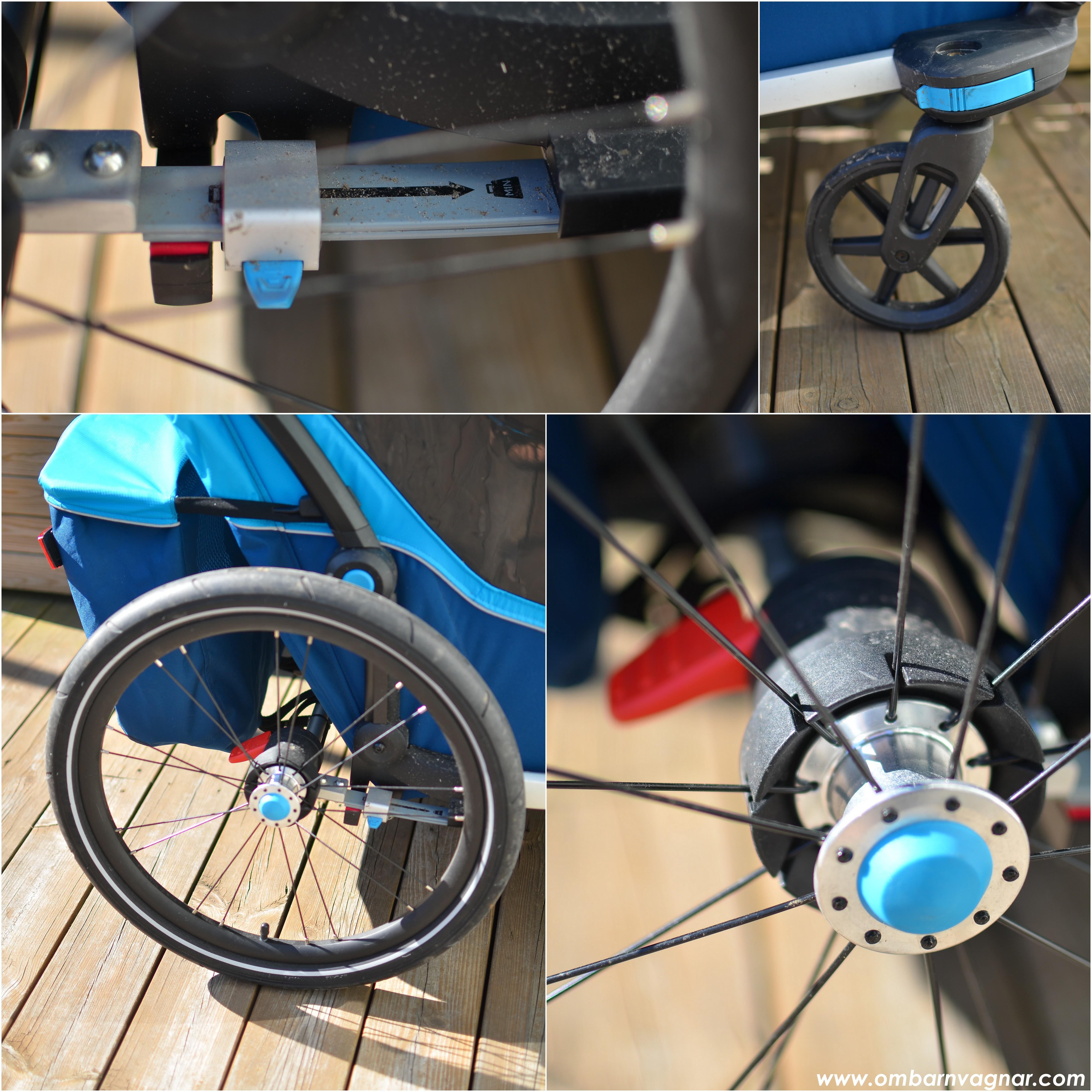 Thule Chariot Cross 2 har bra hjul och fjädring