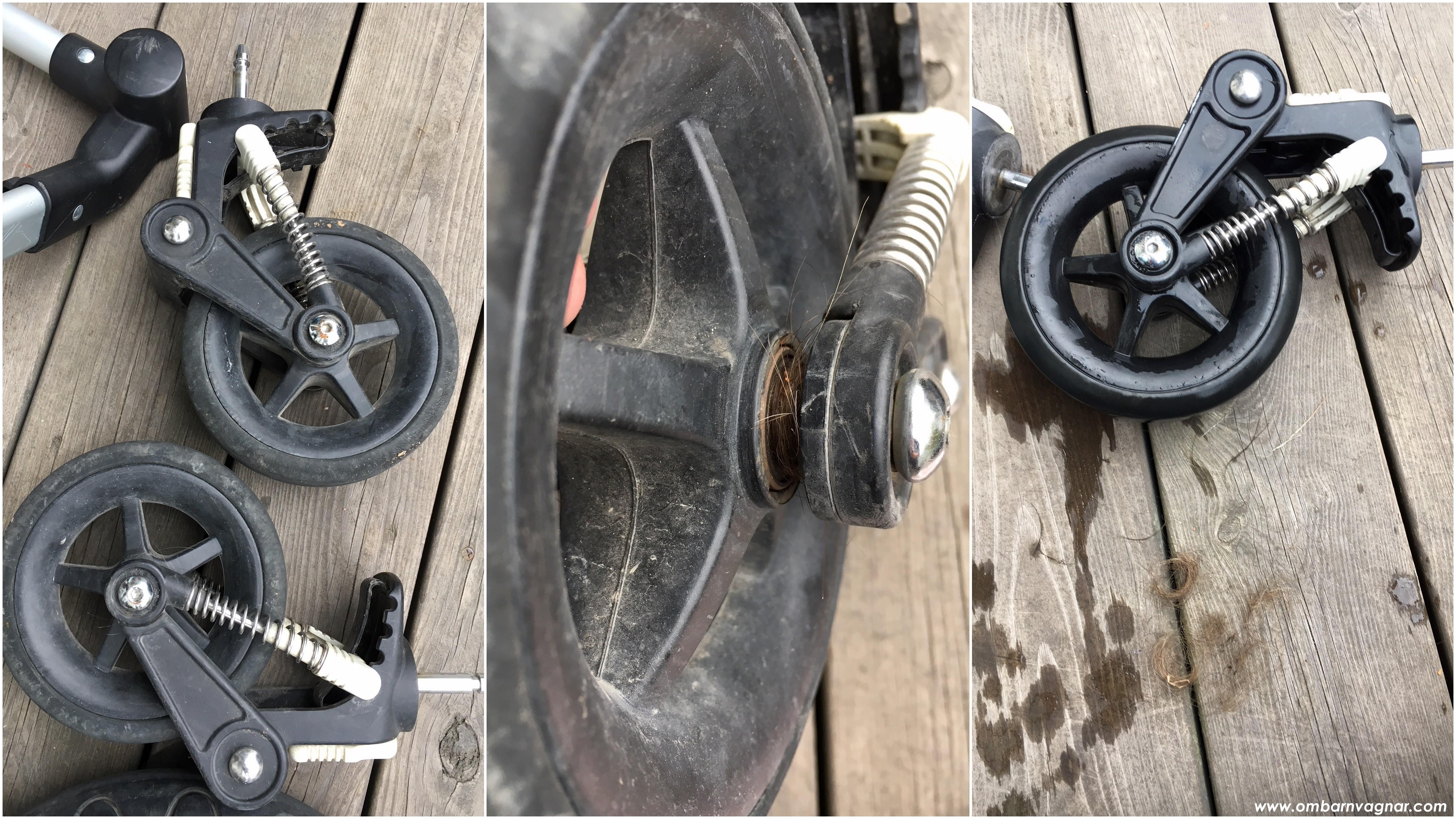 Så rengör du barnvagnens hjul