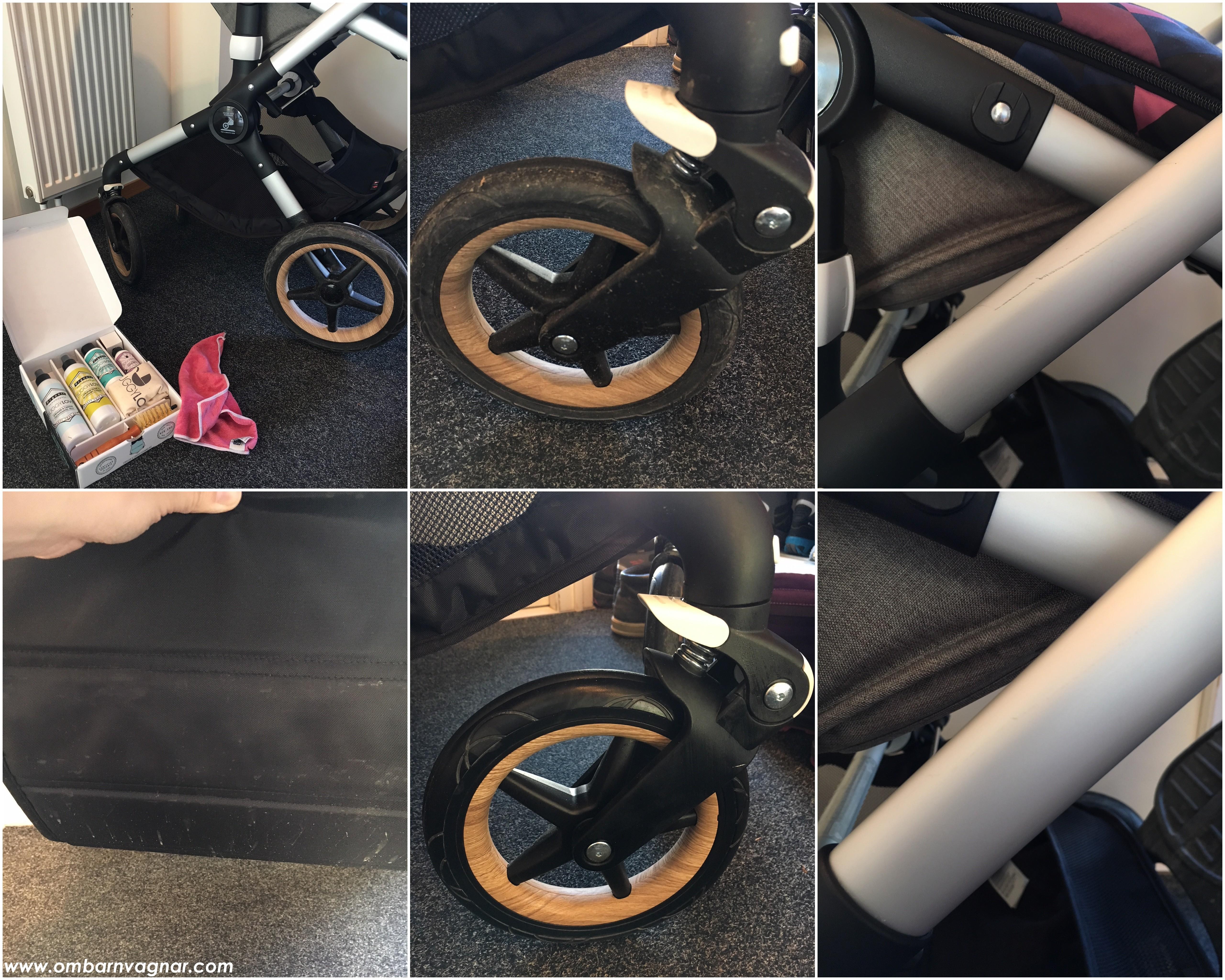 Rengöra barnvagnen med ekologiska rengöringsmedel