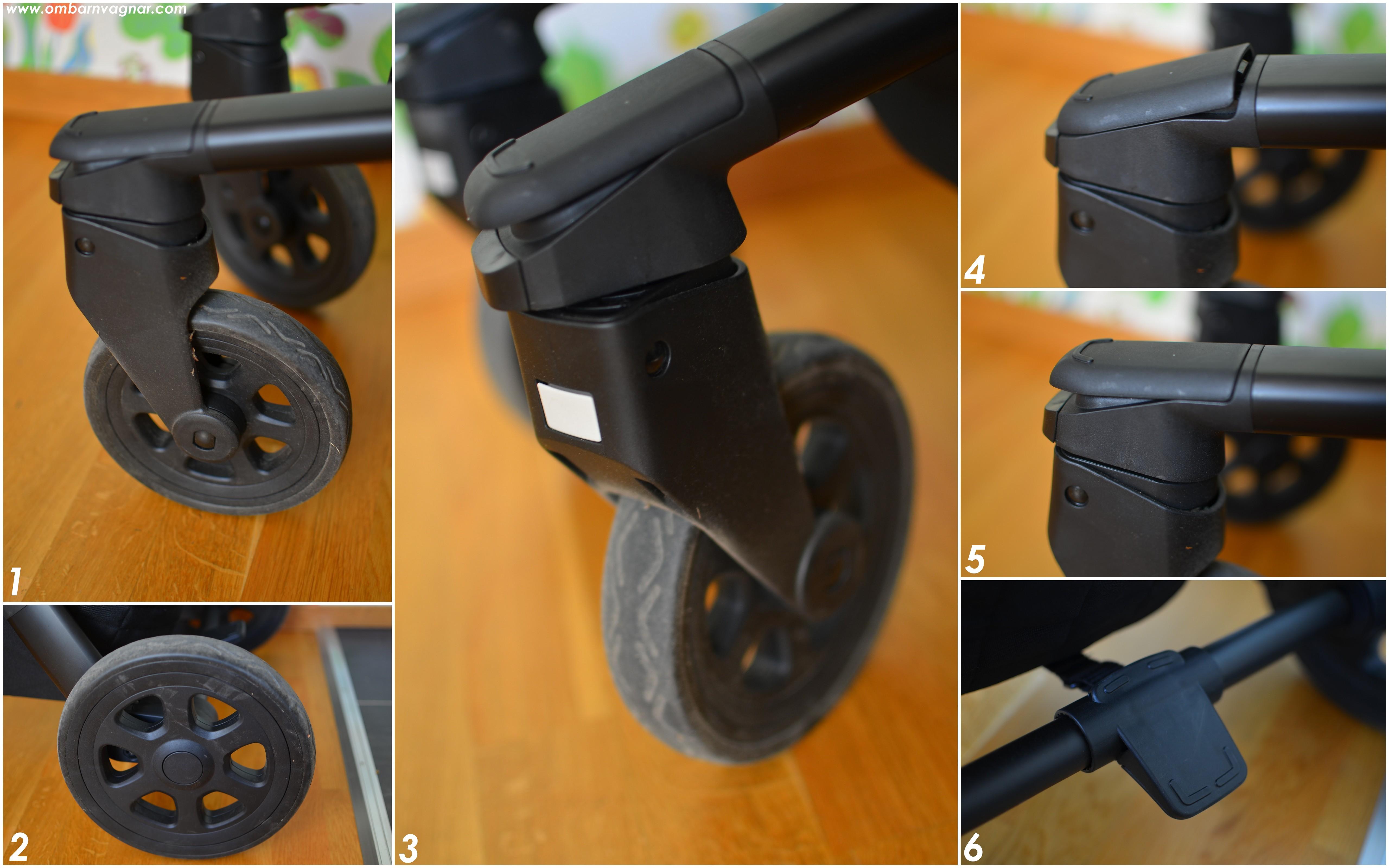 Joolz Hub har punkteringsfria däck och låsbara framhjul