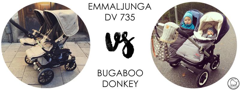 Emmaljunga DV735 eller Bugaboo Donkey?