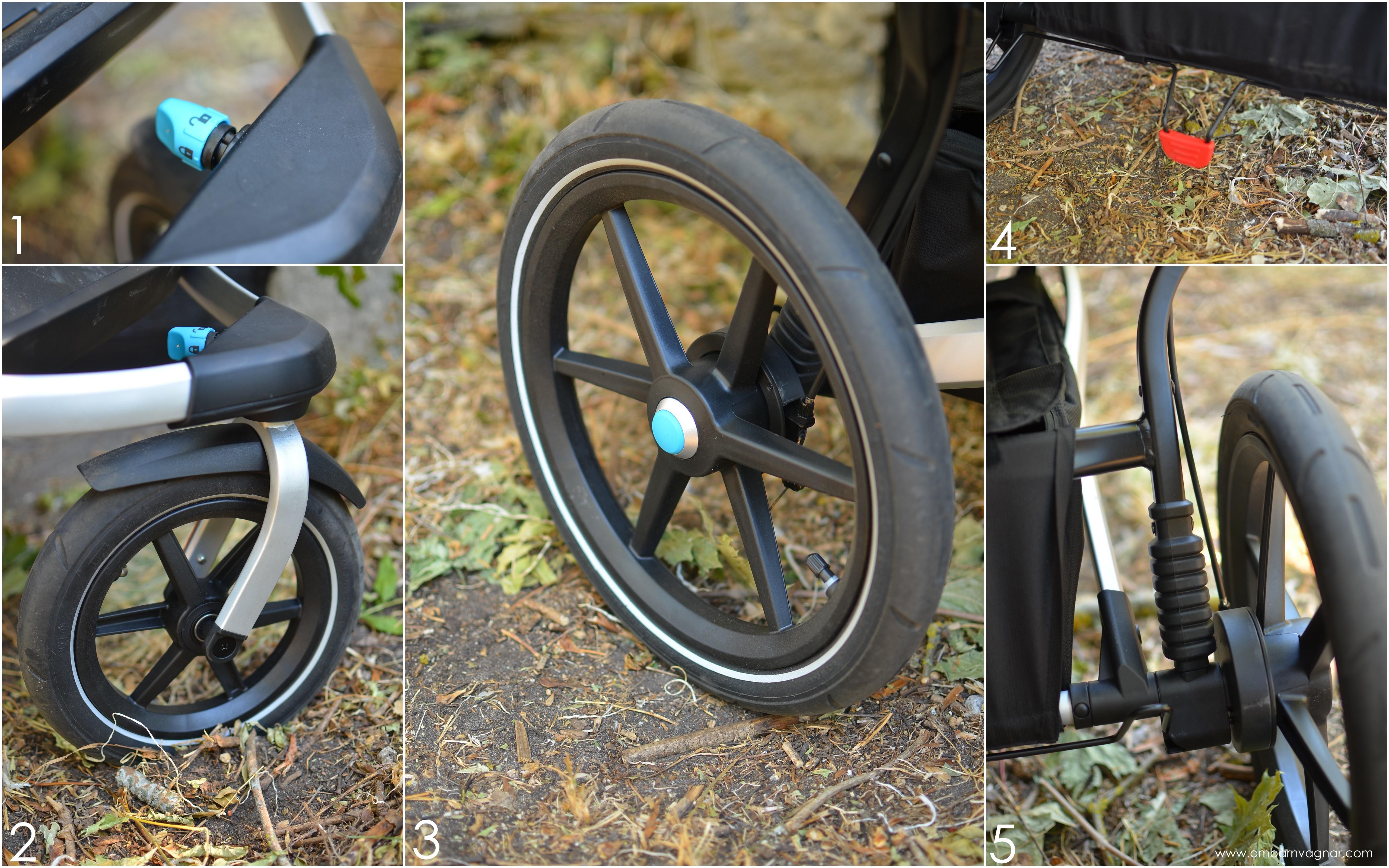 Thule Urban Glide 2 Double har stora lufthjul