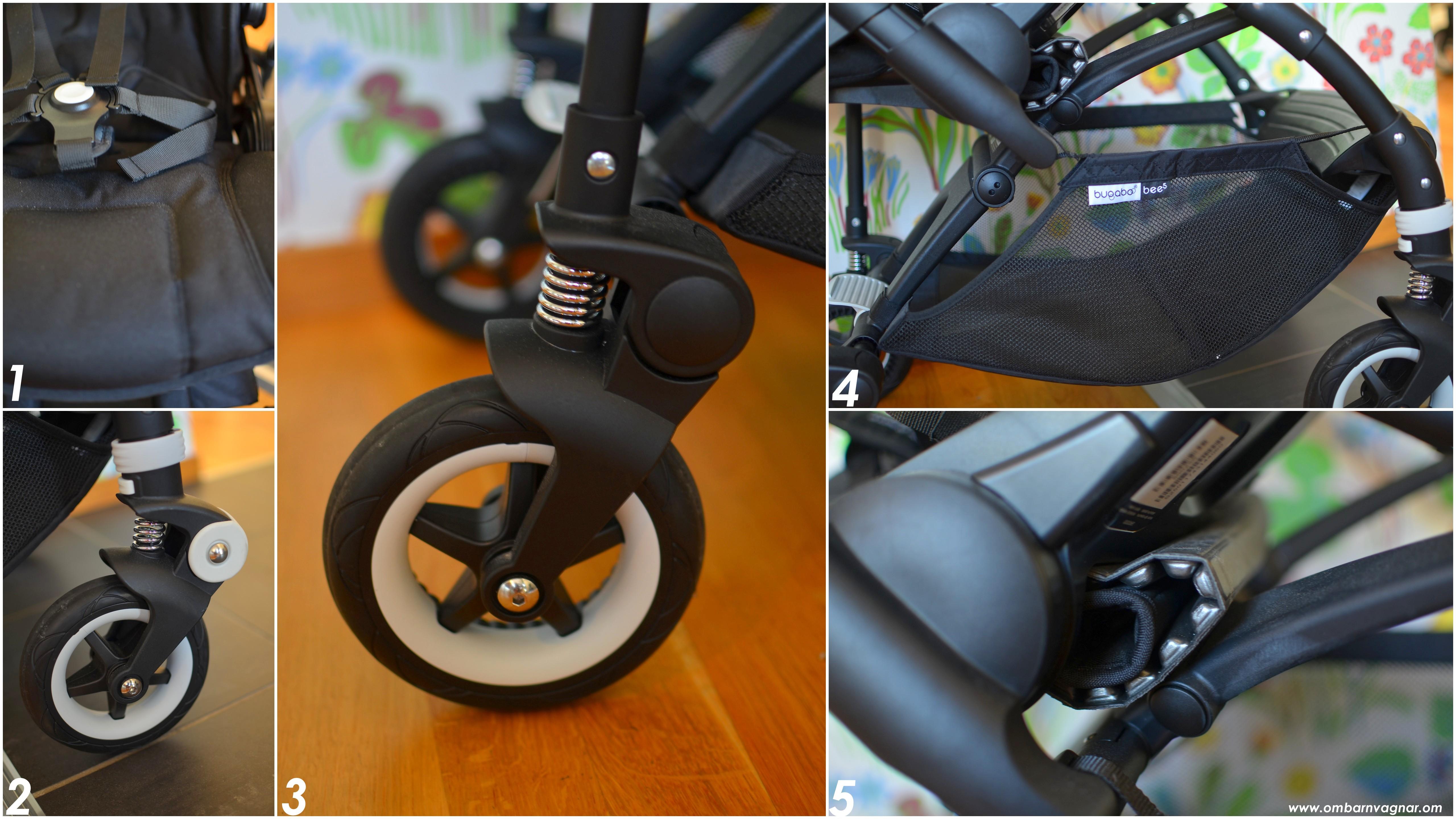 Bugaboo Bee5 med rymlig varukorg och smidiga, små hjul