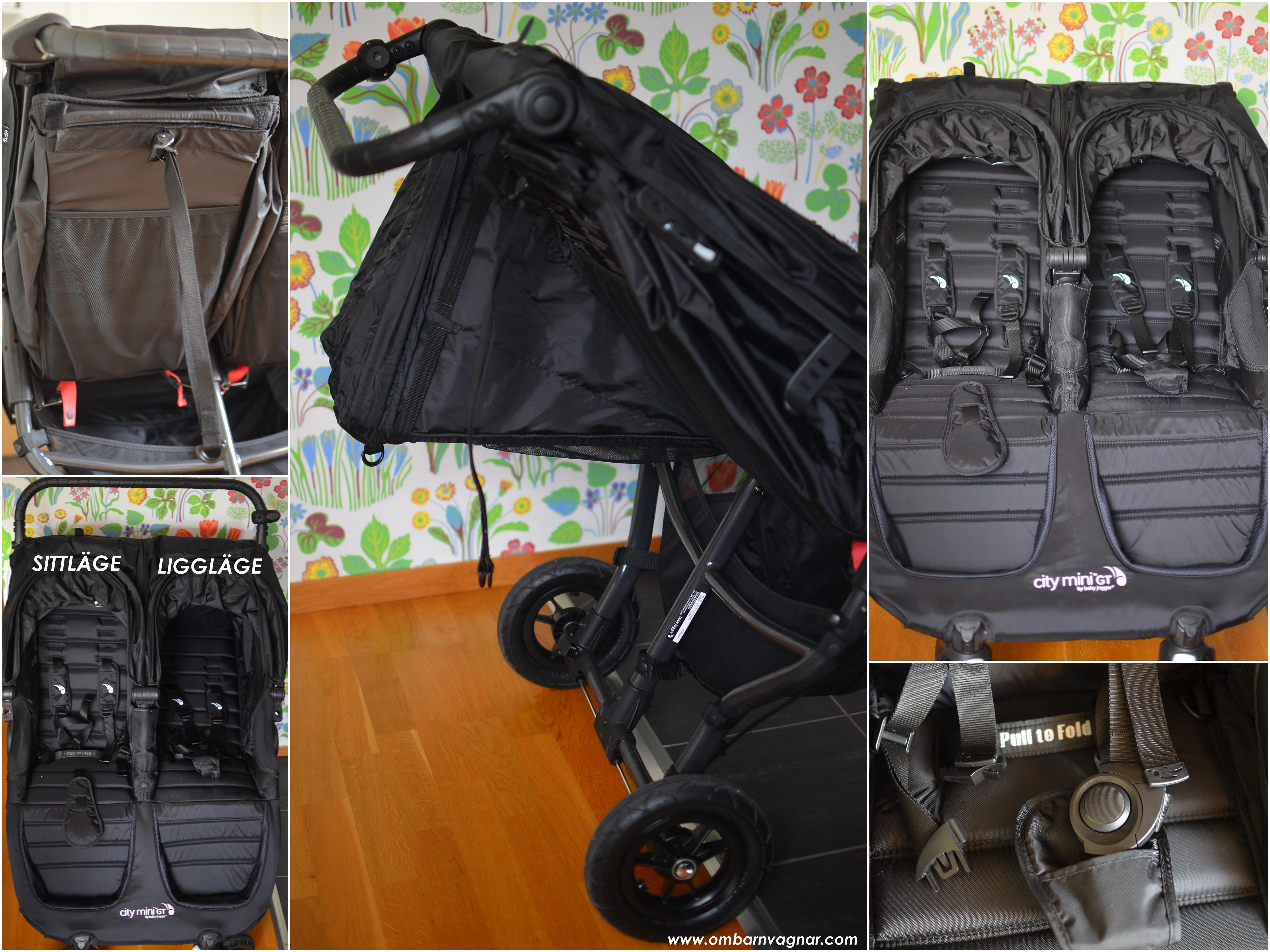 Baby Jogger City Mini GT Double har rymliga sittdelar med bra liggläge