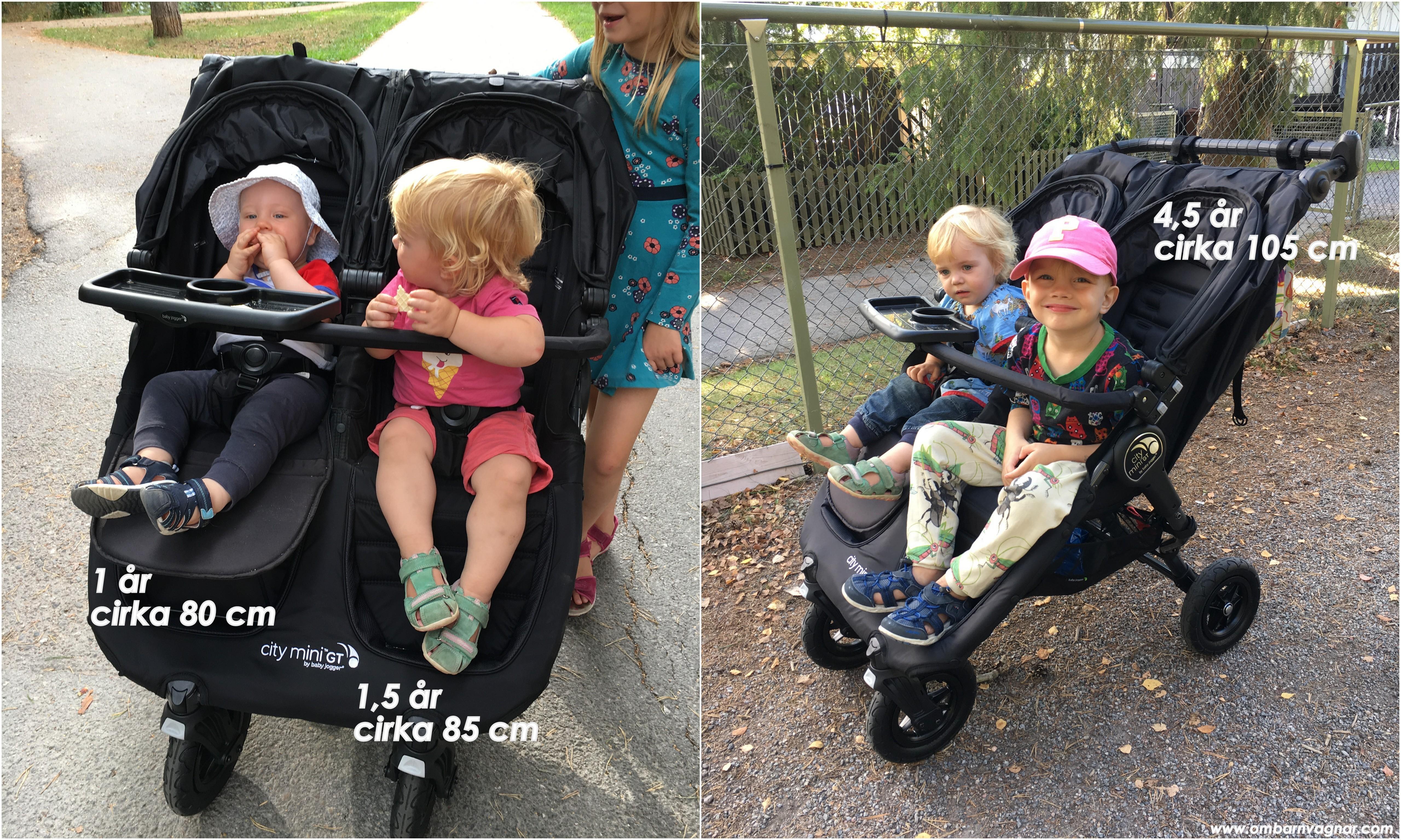 Så stora barn ryms i Baby Jogger City Mini GT Double