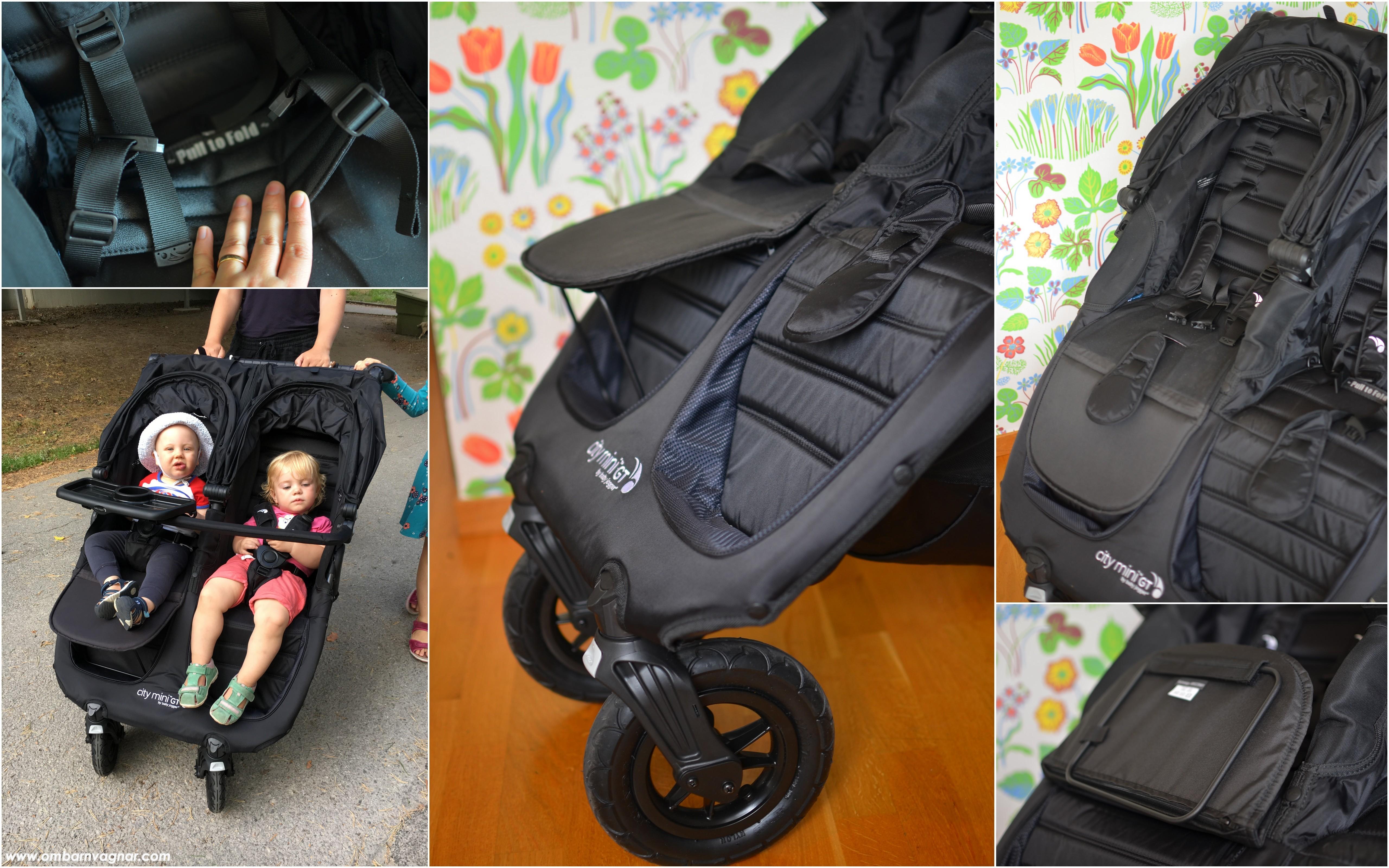 Ställbart fotstöd kan köpas till som tillbehör till Baby Jogger City Mini GT Double