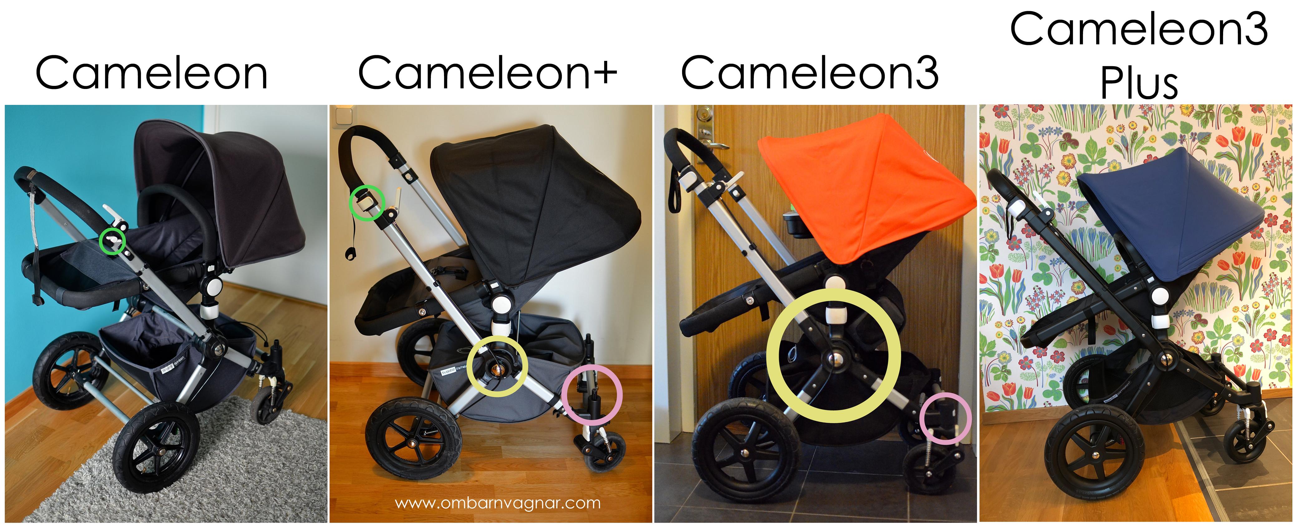 Guide över alla versioner av Bugaboo Cameleon