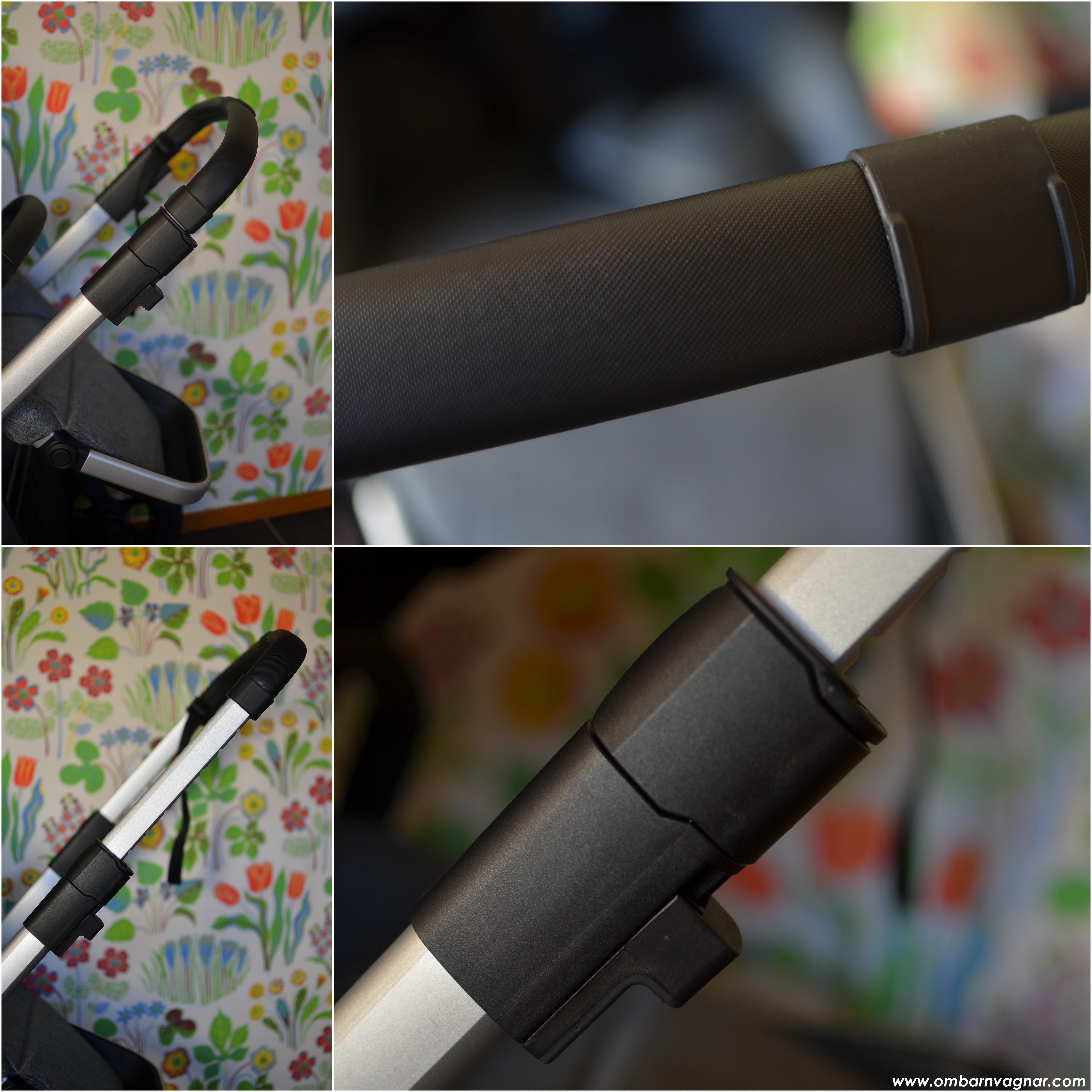 Thule Sleek har ett förlängningsbart teleskophandtag