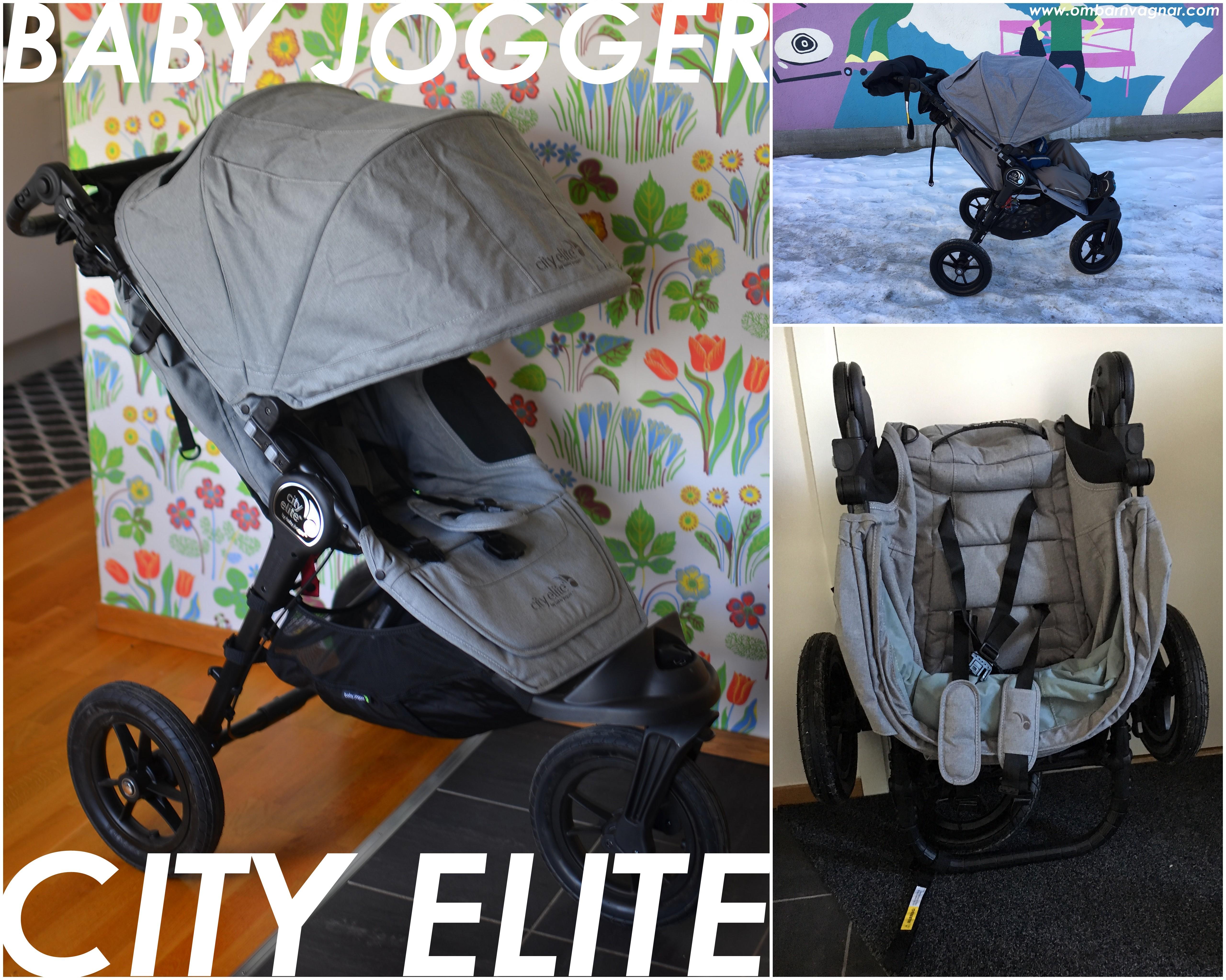 Baby Jogger City Elite barnvagn med tre hjul