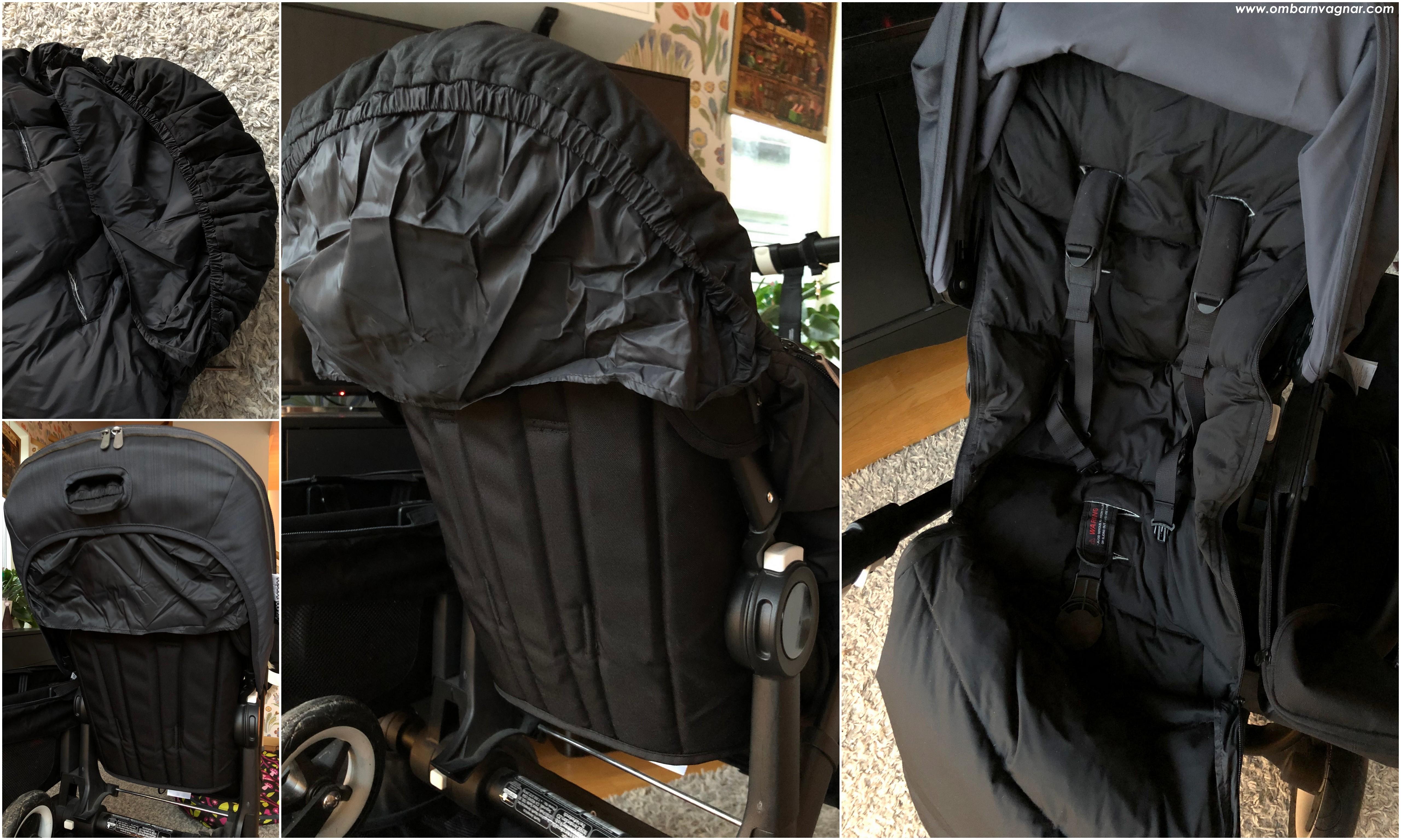 Elodie Details Lightweight Dunåkpåse i barnvagnens sittdel