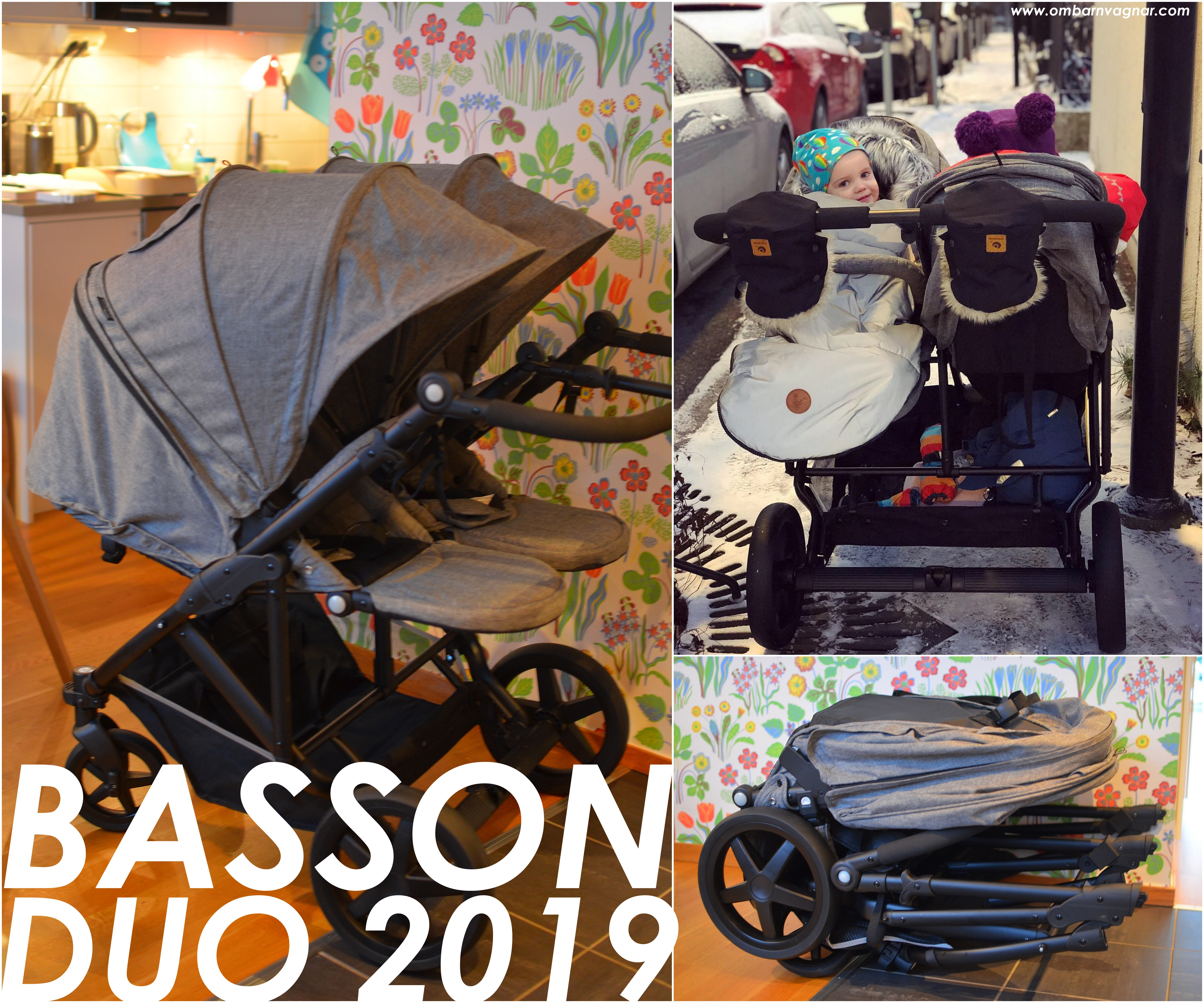 Basson Duo syskonvagn med vändbara sittdelar