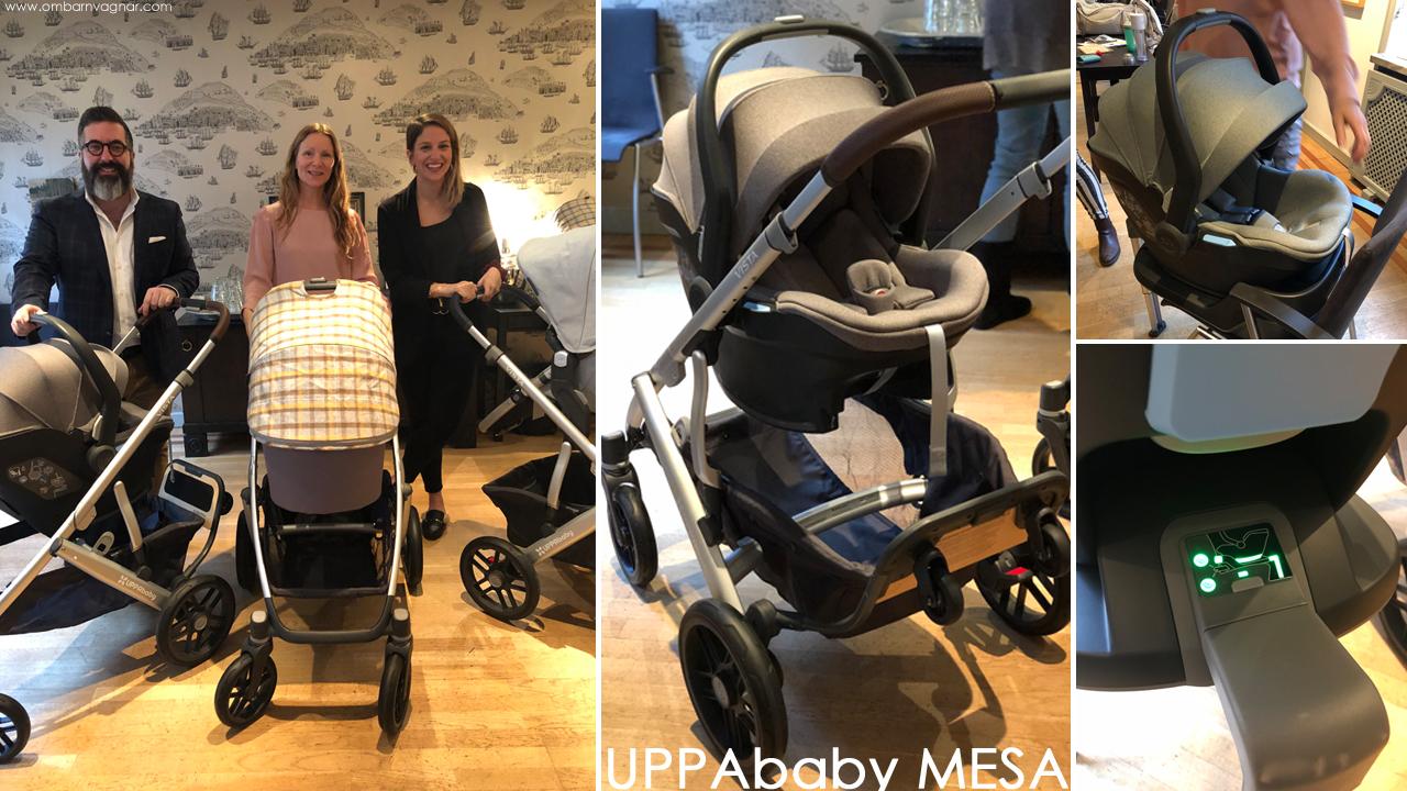 UPPAbaby 2019 nyheter UPPAbaby MESA babyskydd och bas
