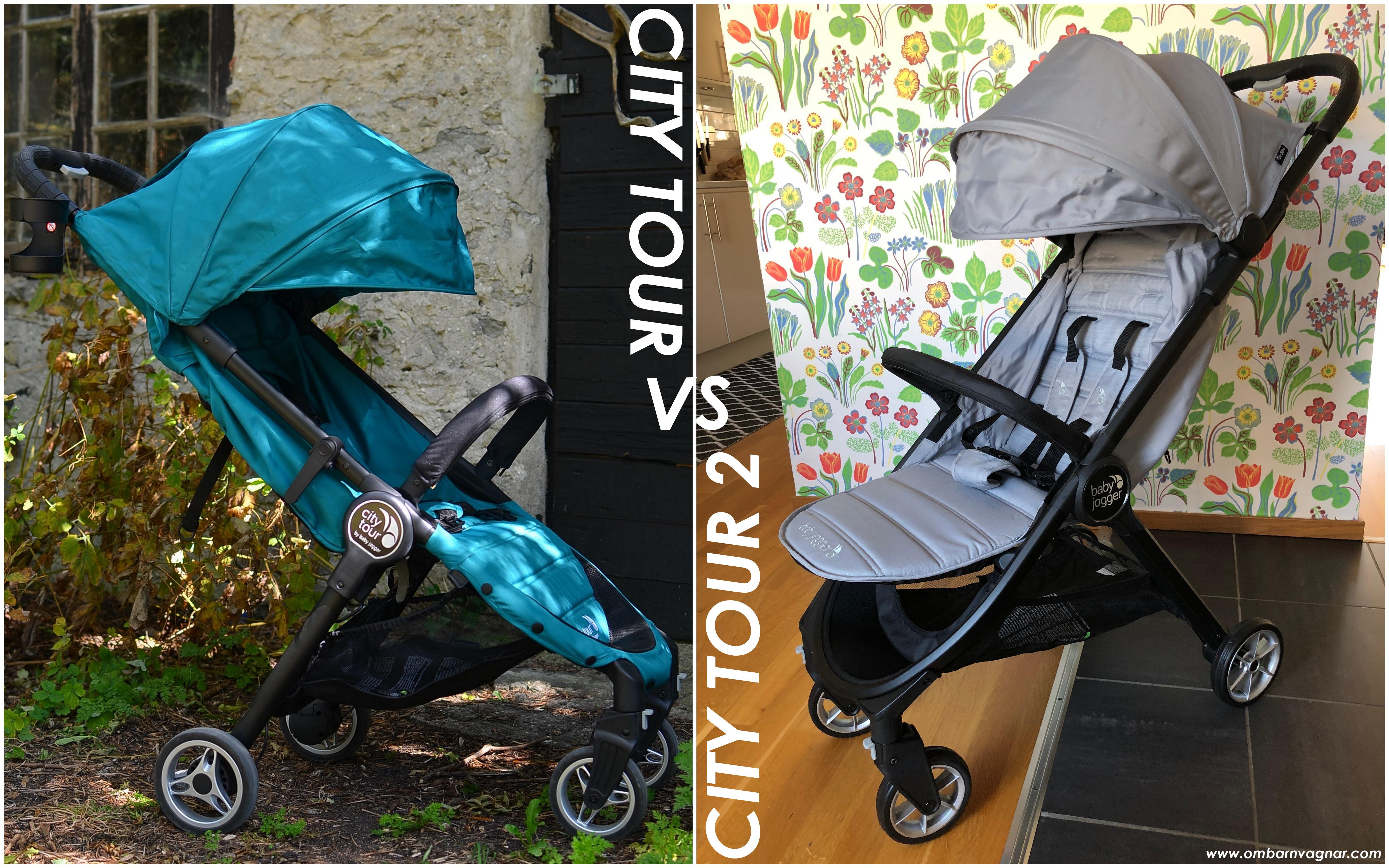 Skillnaden mellan Baby Jogger City Tour 2 och Baby Jogger City Tour