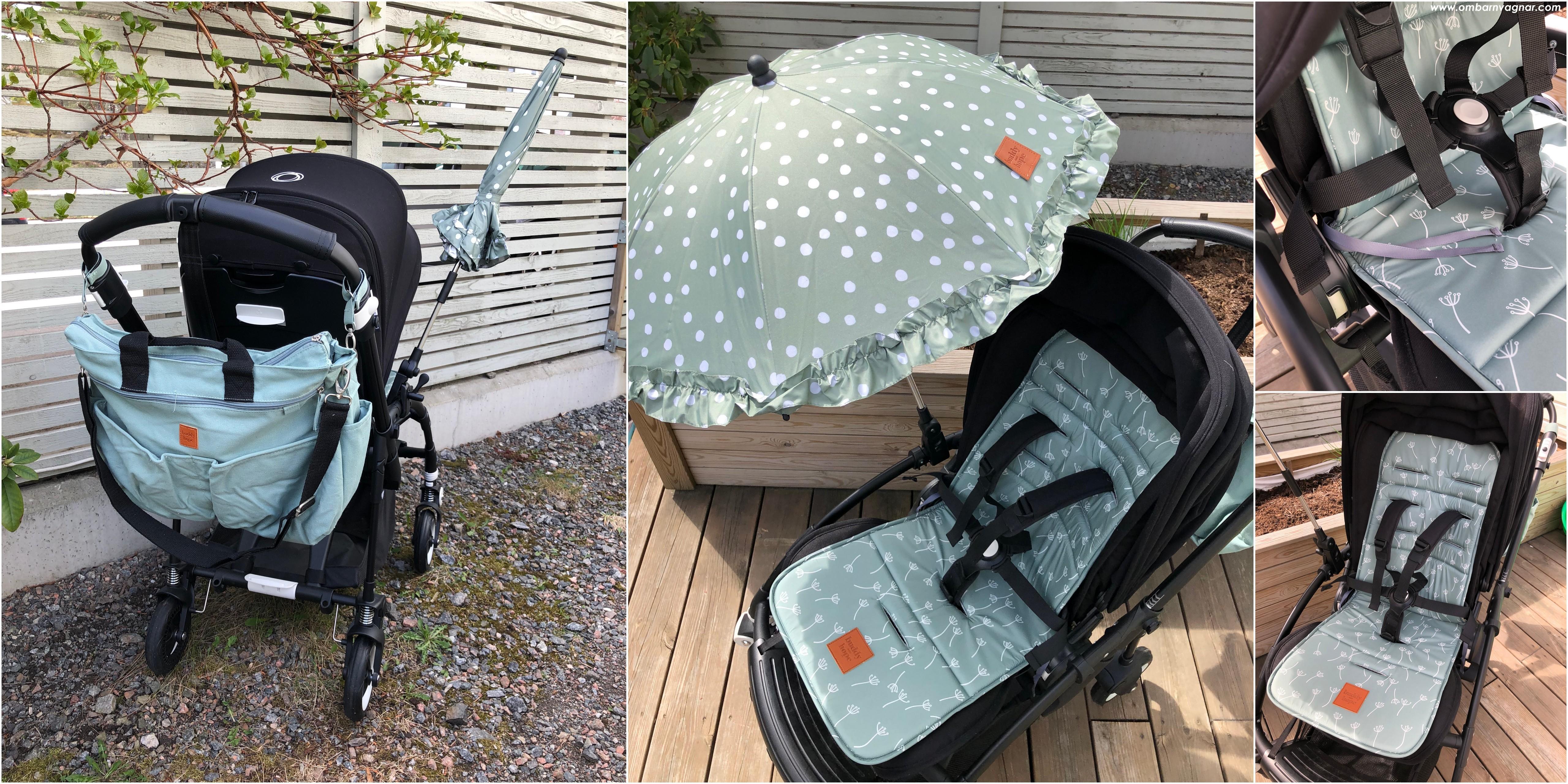 Buddy & Hope sittdyna, parasoll, skötväska och barnvagnskrokar recension