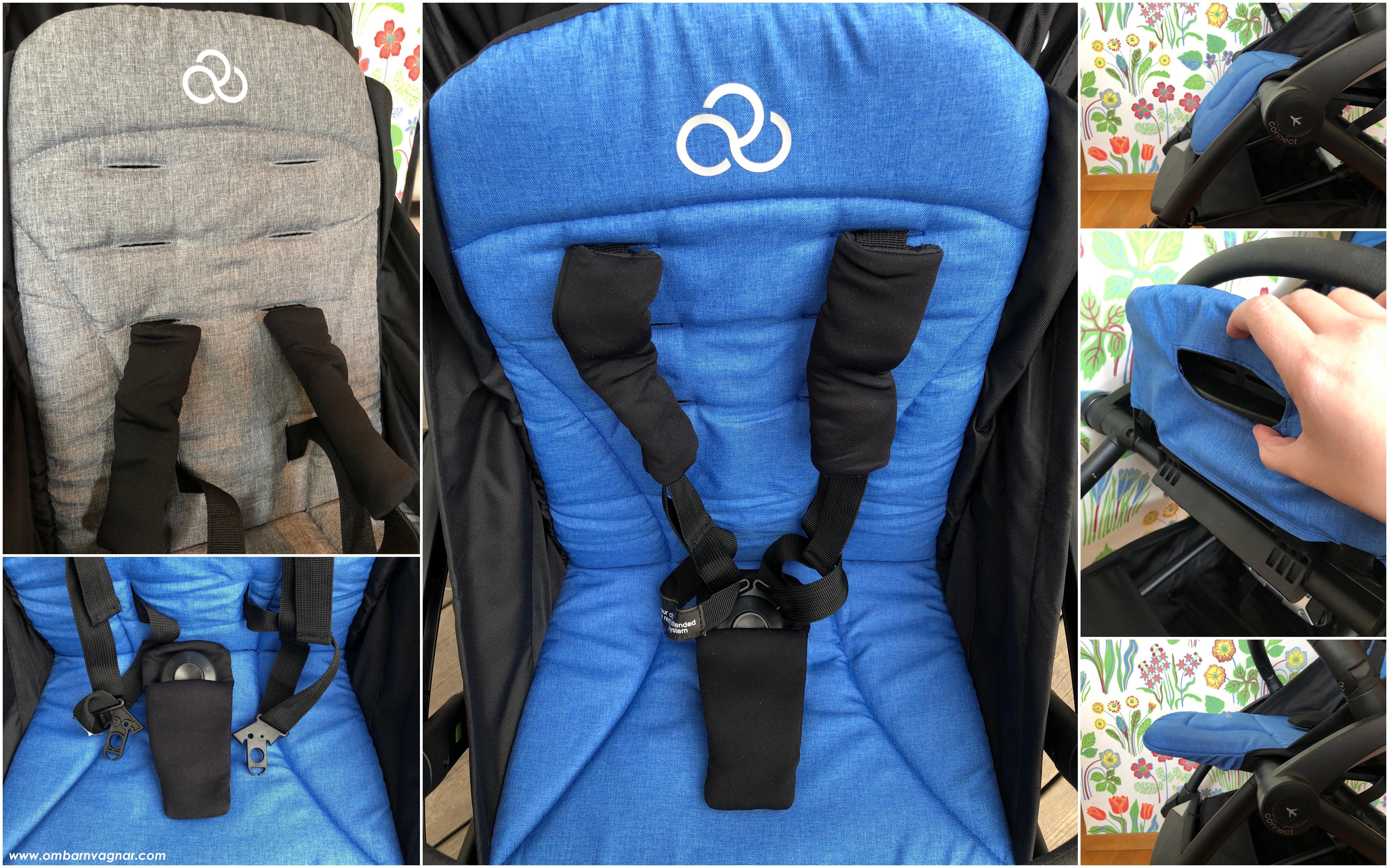 Bumprider Connect sittdel med ställbart fotställ och höjbar sele
