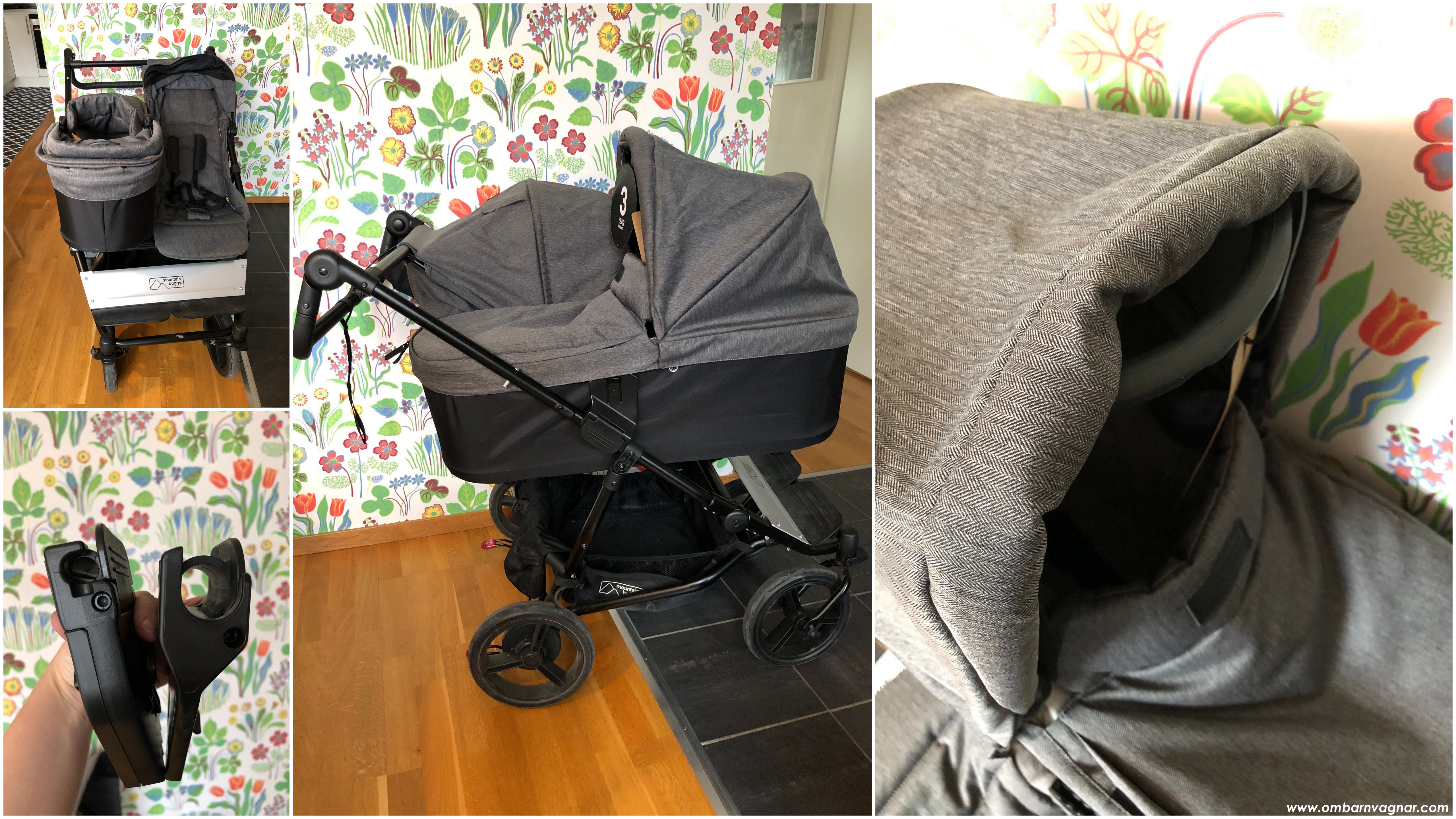Mountain Buggy Duet Herringbone med liggdel