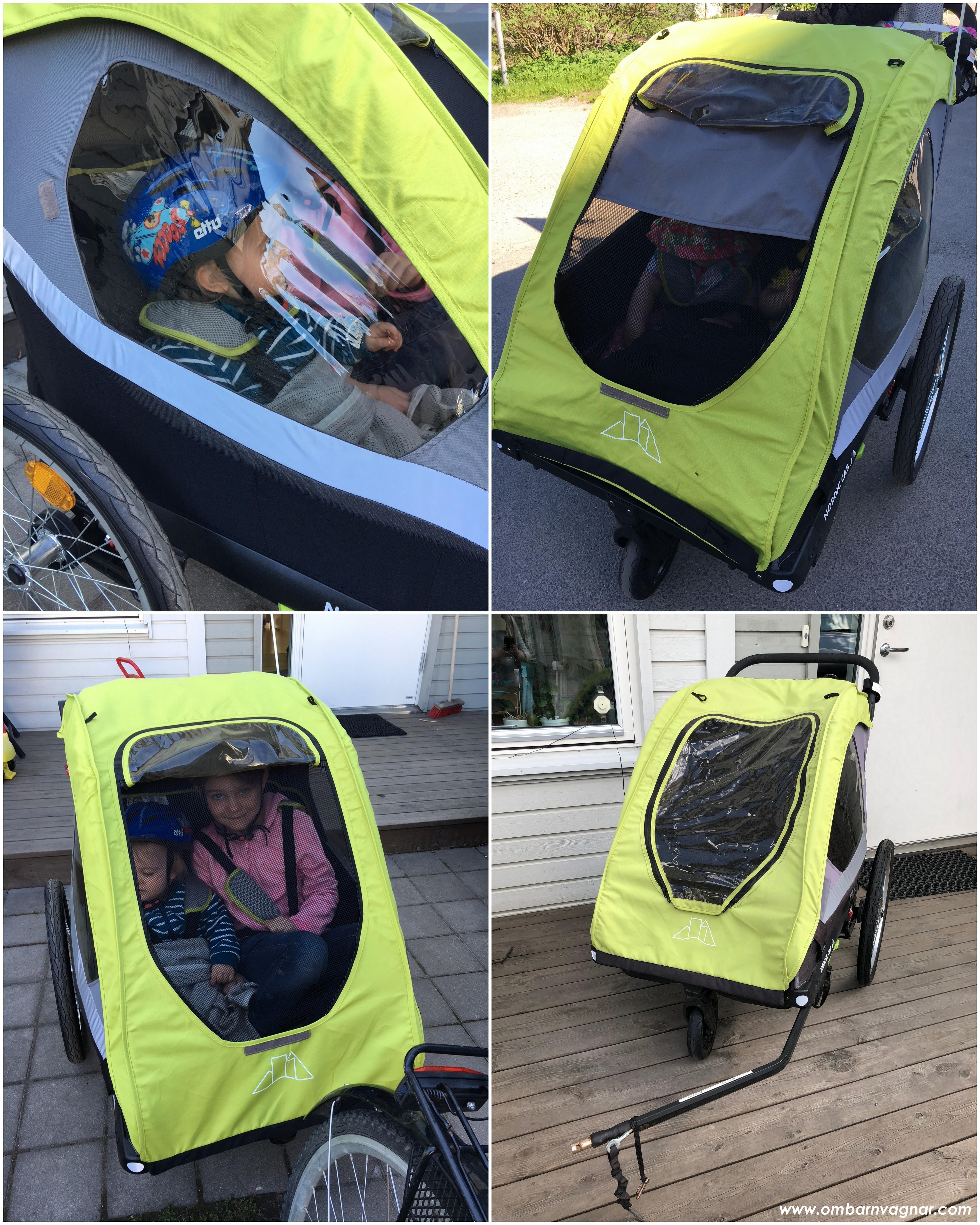 Nordic Cab Active 2-in-1 Cykelvagn insektsnät och solskydd