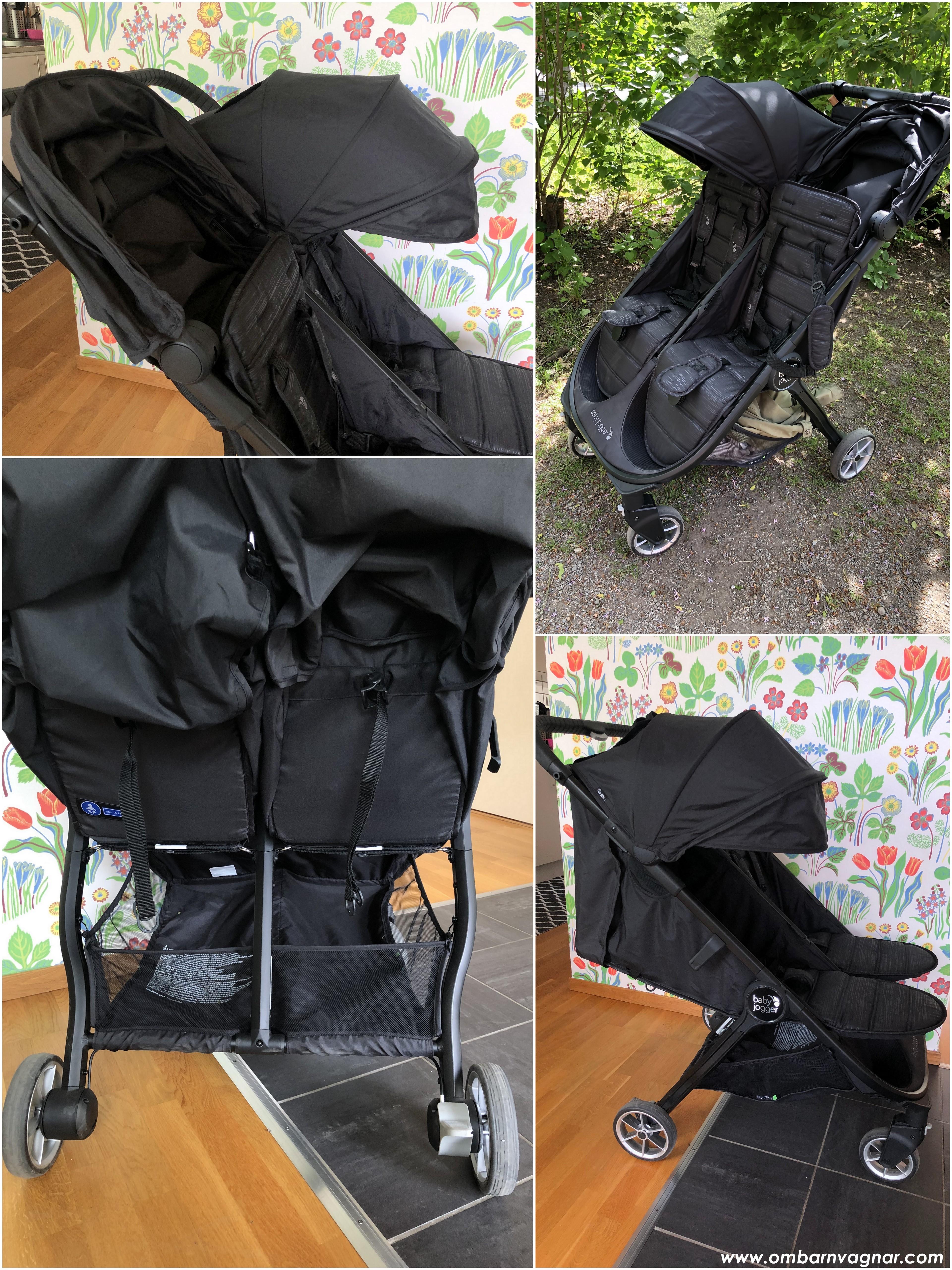 Baby Jogger City Tour 2 Double med sittläge och bra liggläge