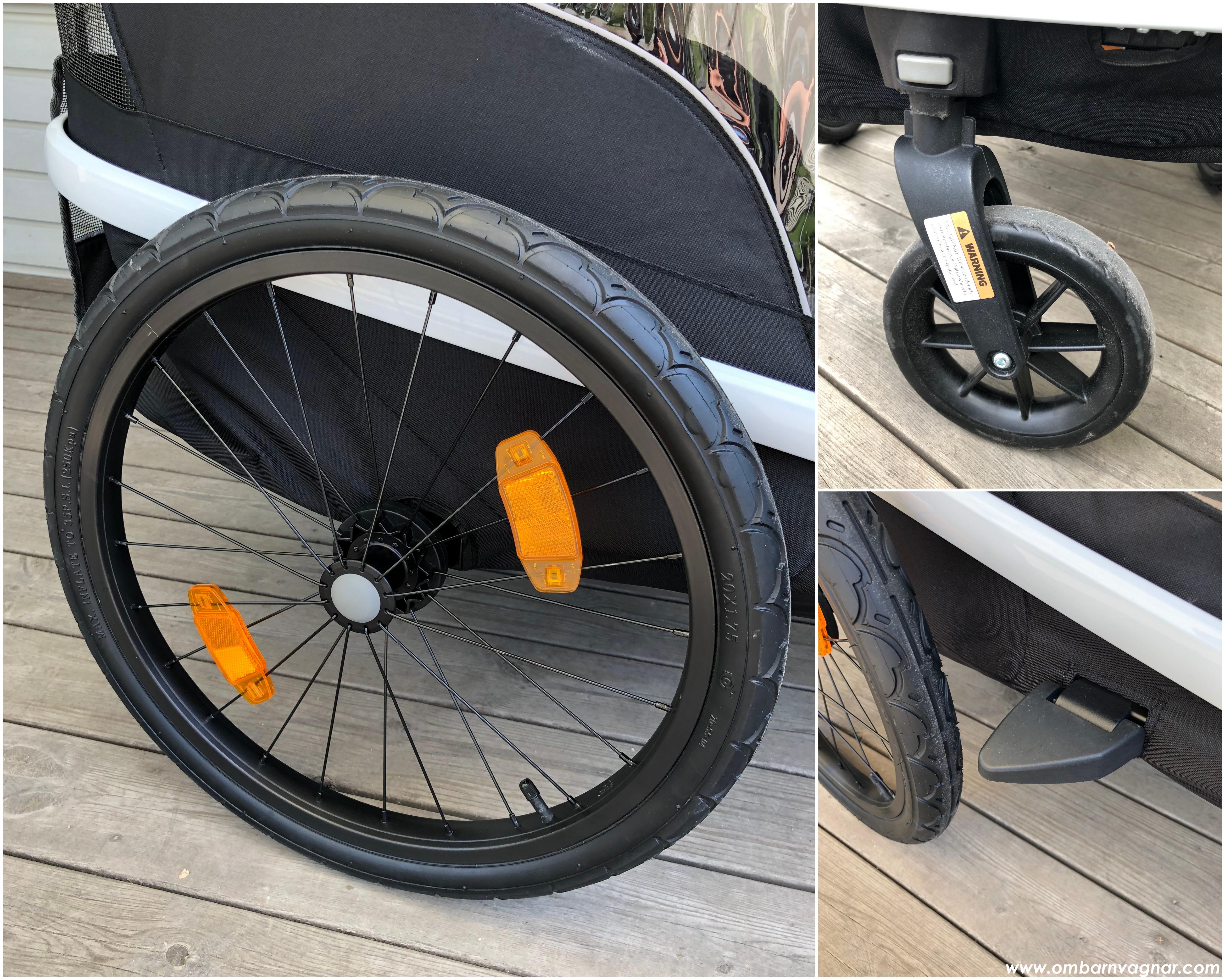 Hamax Avenida hjul, hjulskydd och avtagbart framhjul