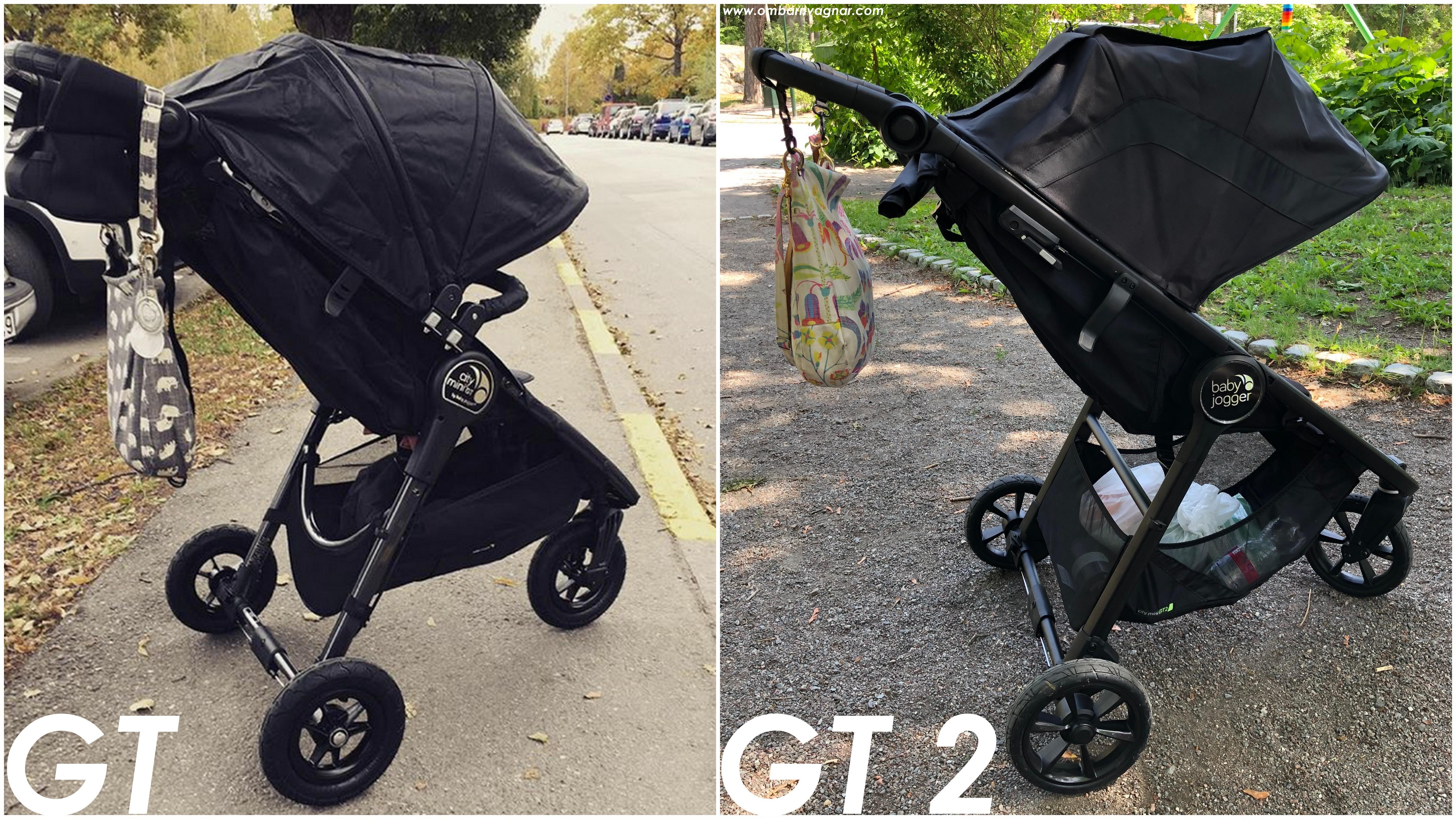 Skillnader och likheter mellan Baby Jogger City Mini GT och Baby Jogger City Mini GT 2