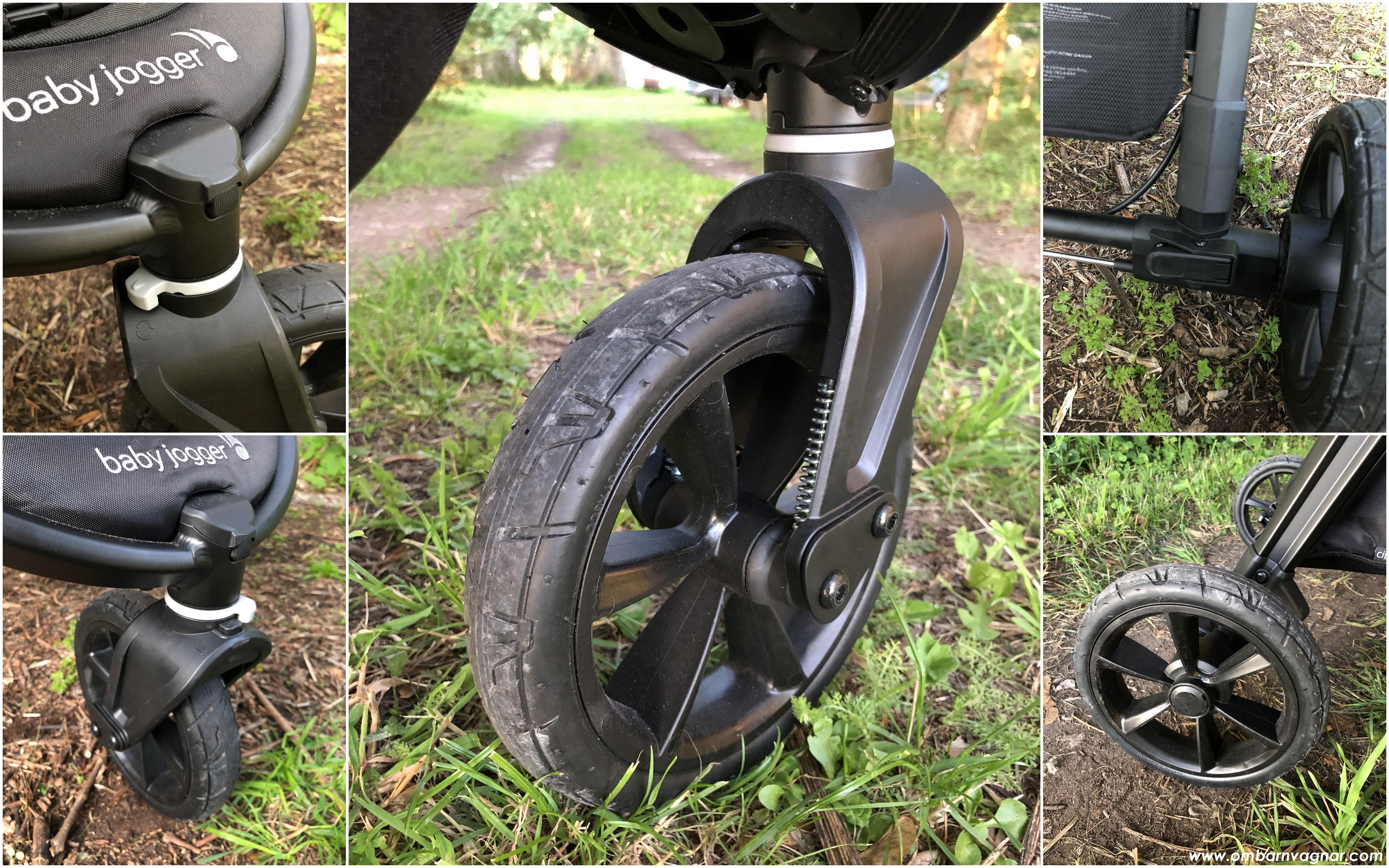 Baby Jogger City Mini GT 2 har punkteringsfria, skumfyllda hjul