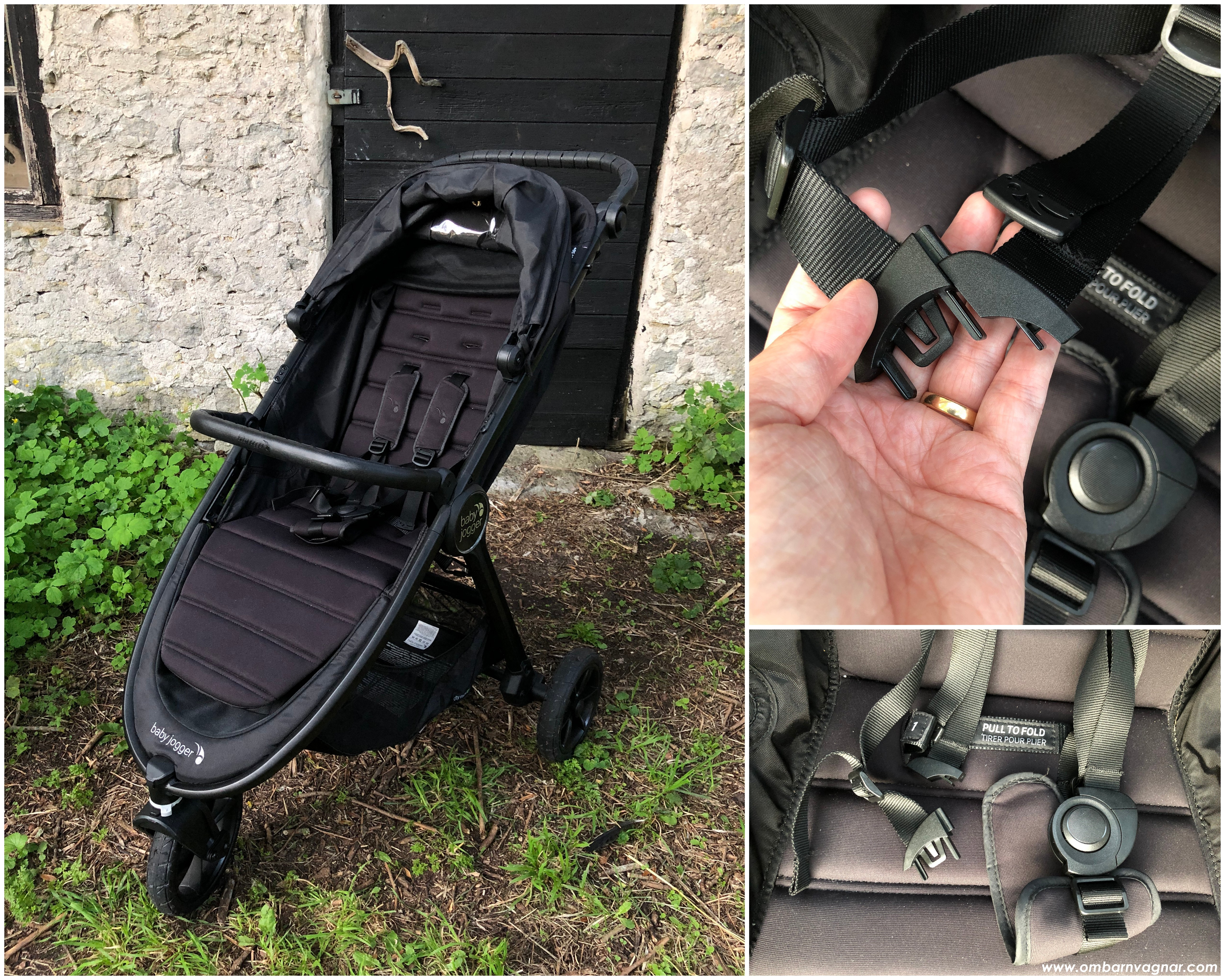 Baby Jogger City Mini GT 2 vanlig, framåtvänd sittdel med delbar sele