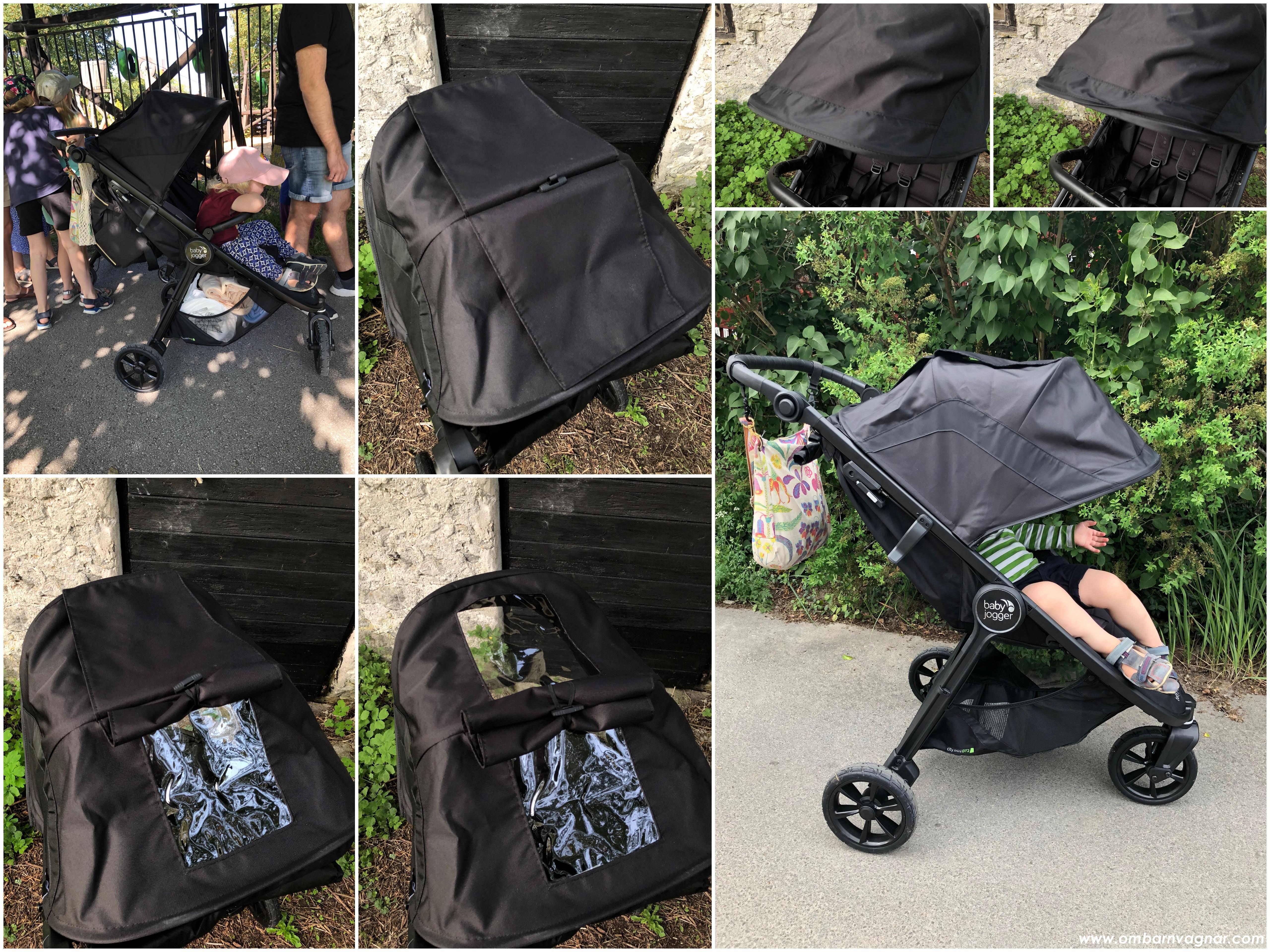 Tittlucka och bra solskydd i suffletten på Baby Jogger City Mini GT 2