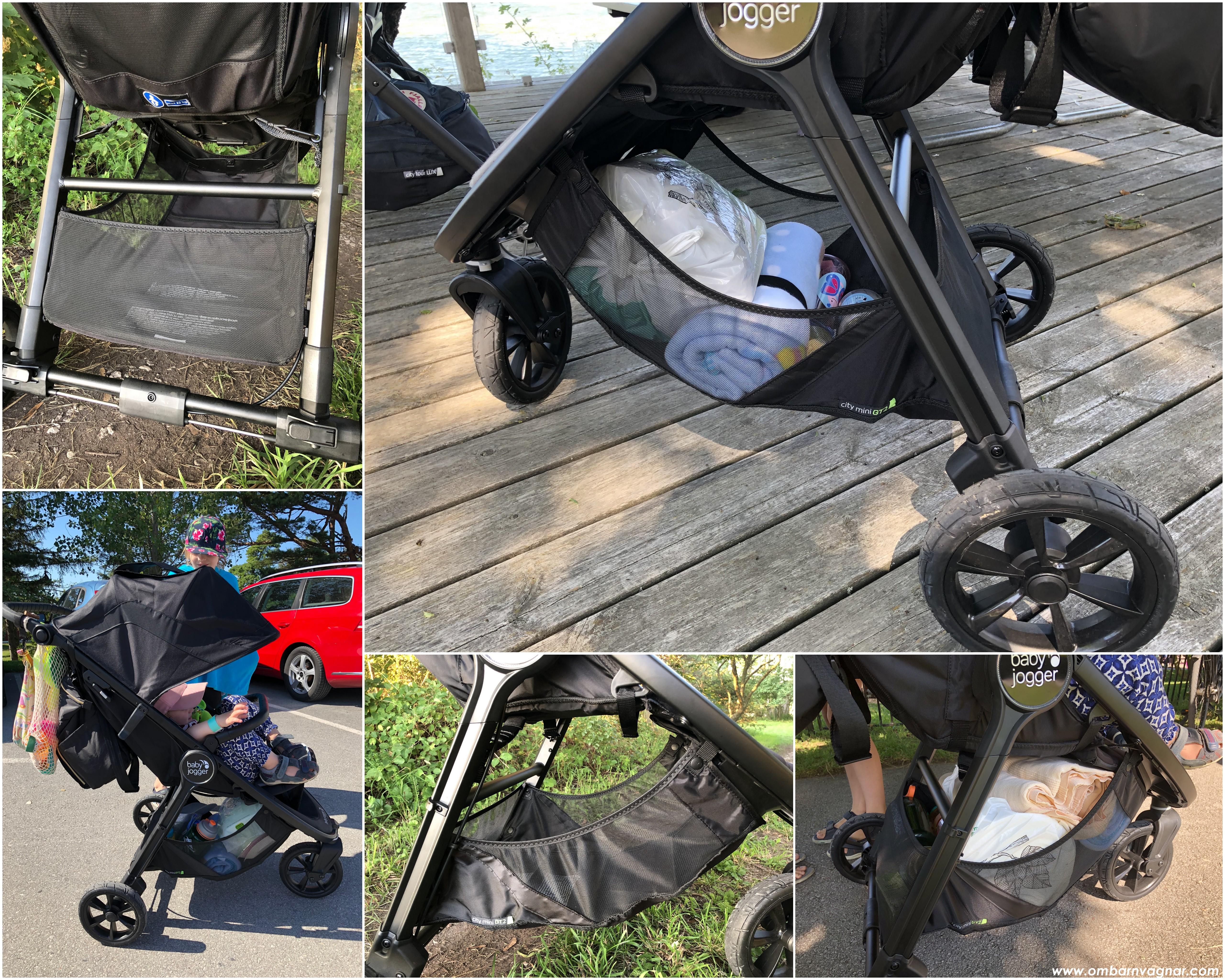 Rymlig varukorg under Baby Jogger City Mini GT 2
