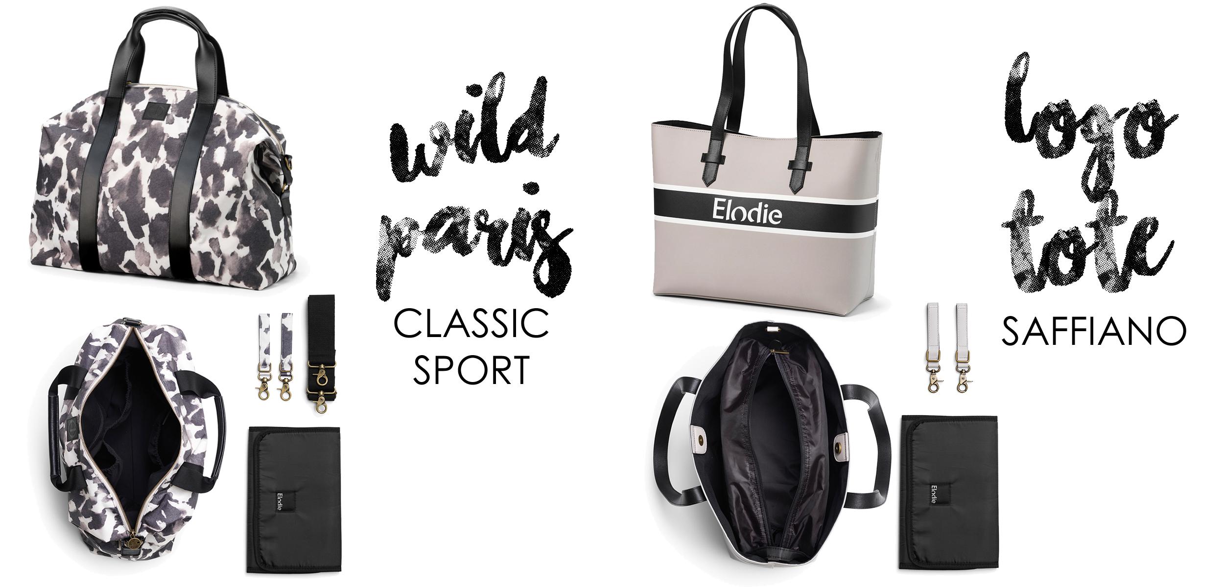 Elodie Details Classic Sport Skötväska och Logo Tote Saffiano Skötväska 2019