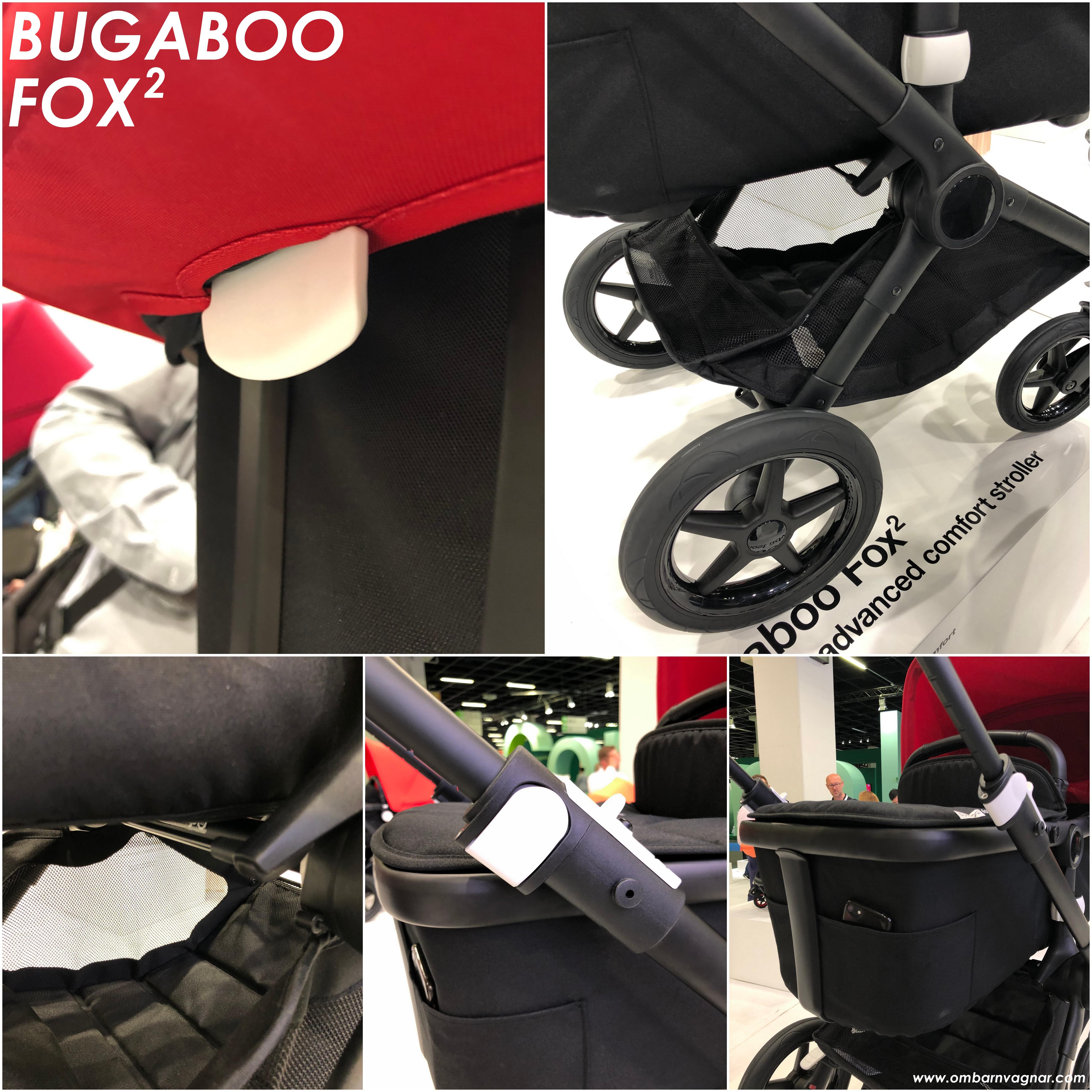 Bugaboo Fox 2 har många förbättrade funktioner, såsom smidigare fällning av sittdelen