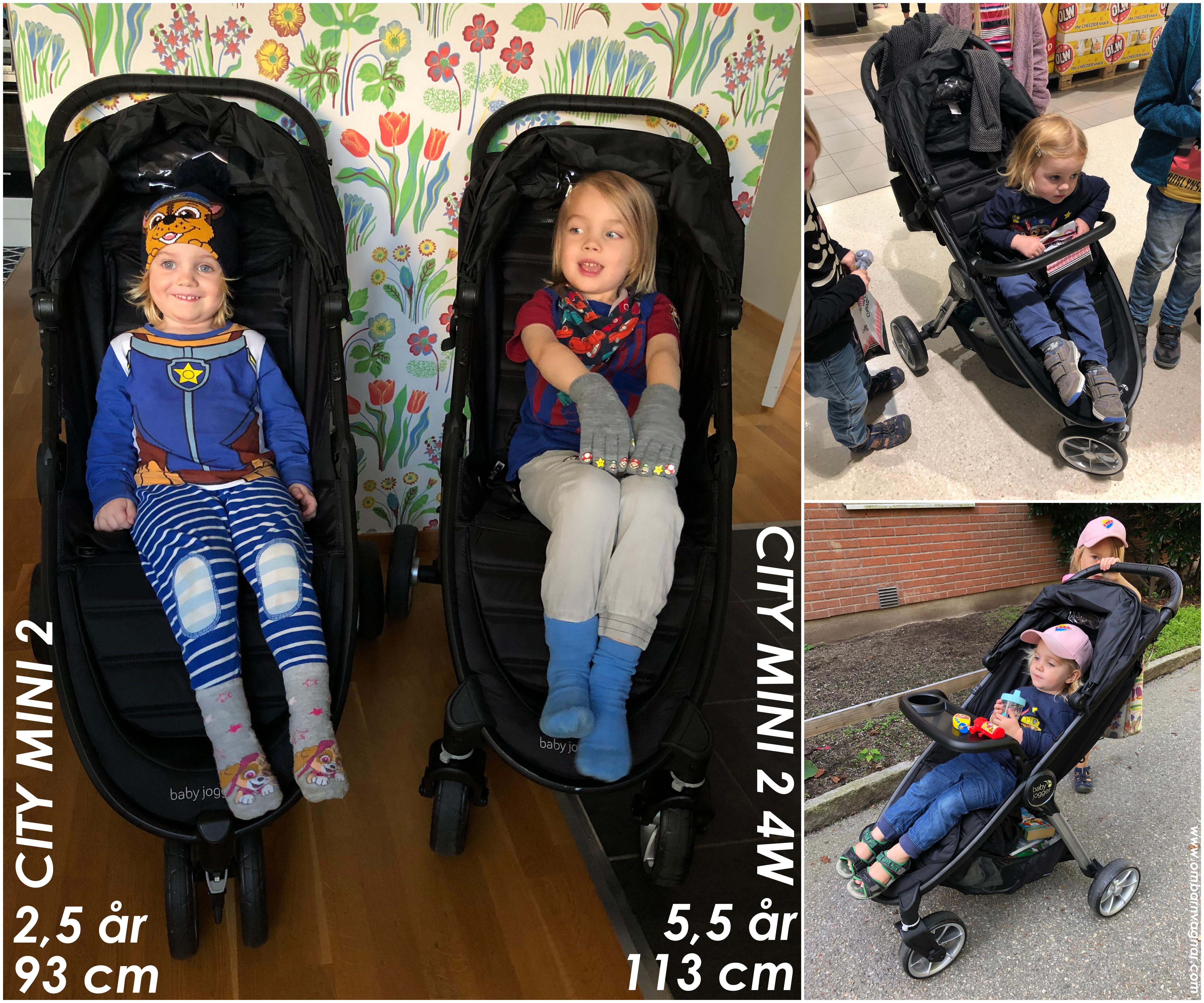 Så stora barn ryms i Baby Jogger City Mini 2 4W